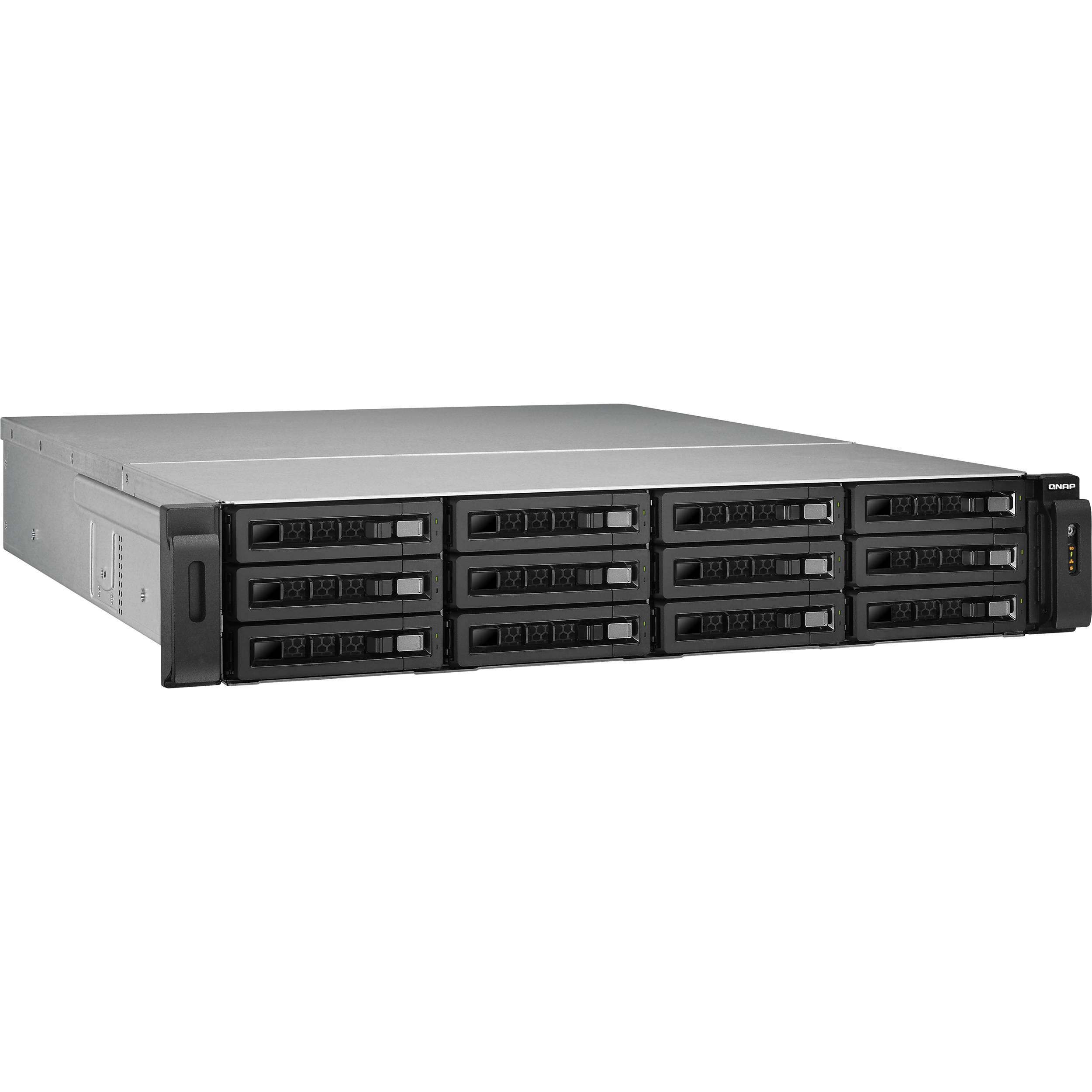 QNAP TS-1279U-RP 12 Bay IP-SAN Storage Solution with 10GbE Bundle