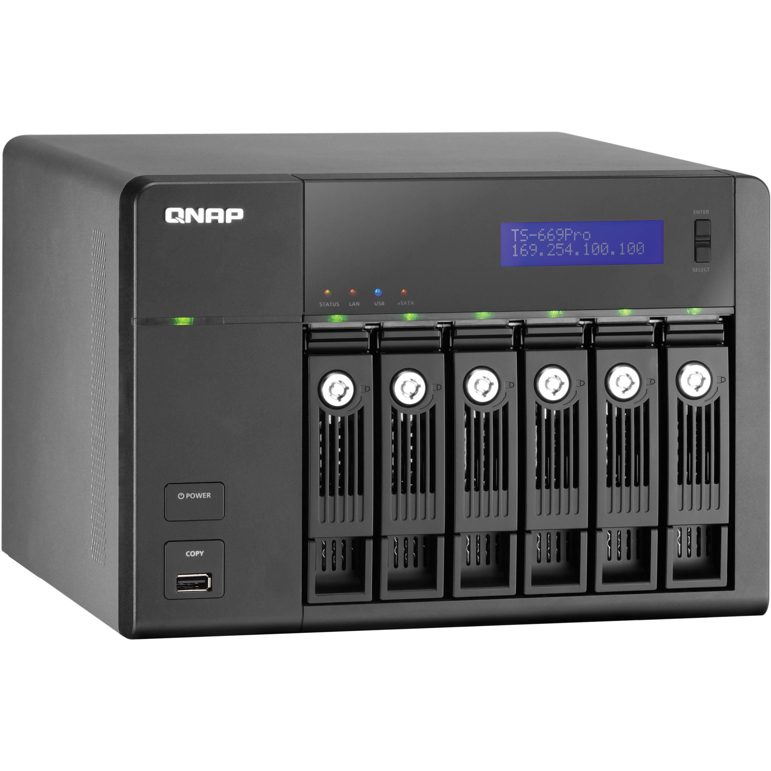 QNAP TS-669 Pro 6 Bay Turbo NAS Server for SMBs