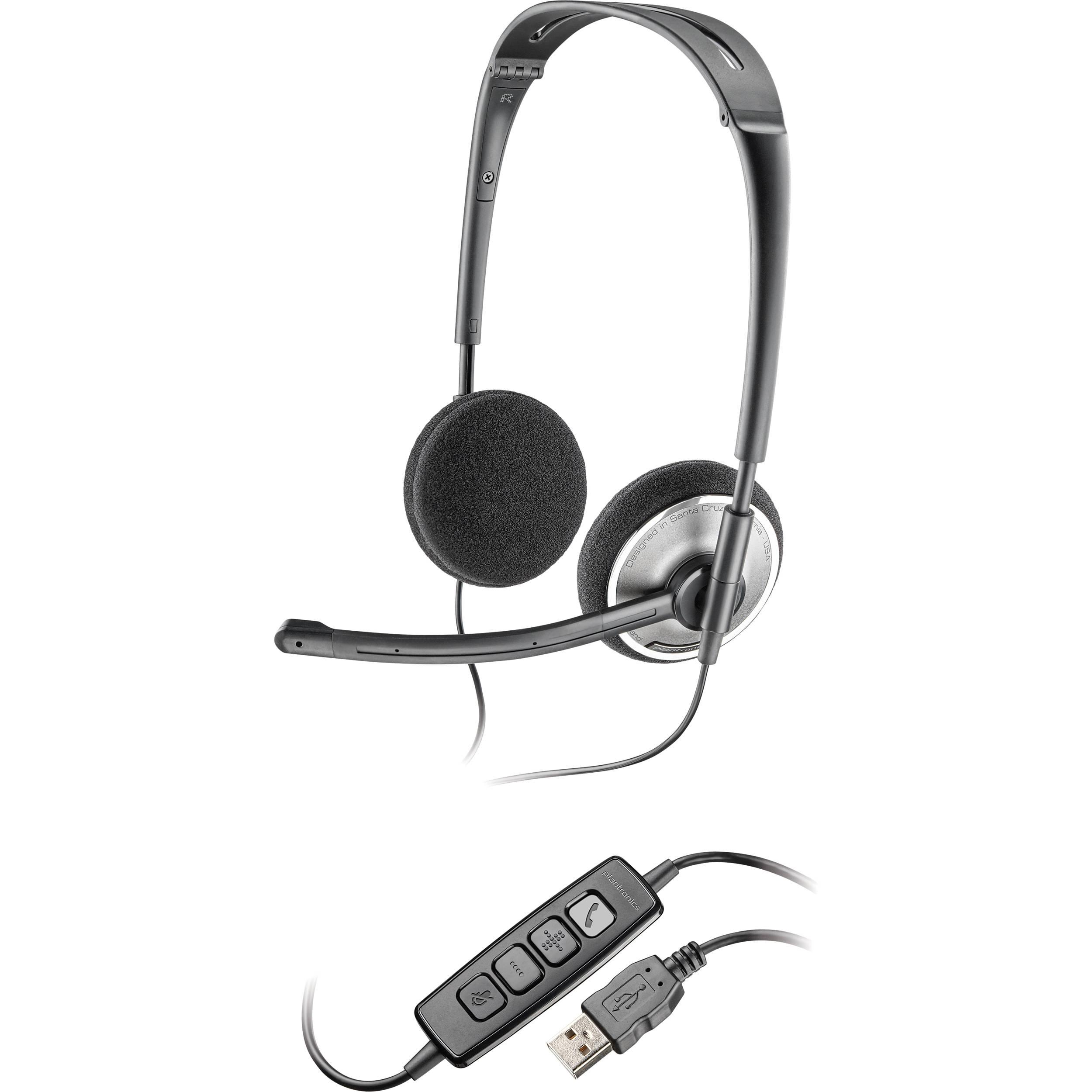 Plantronics Audio 478 Folding Usb Headset 81962 21 B H Photo
