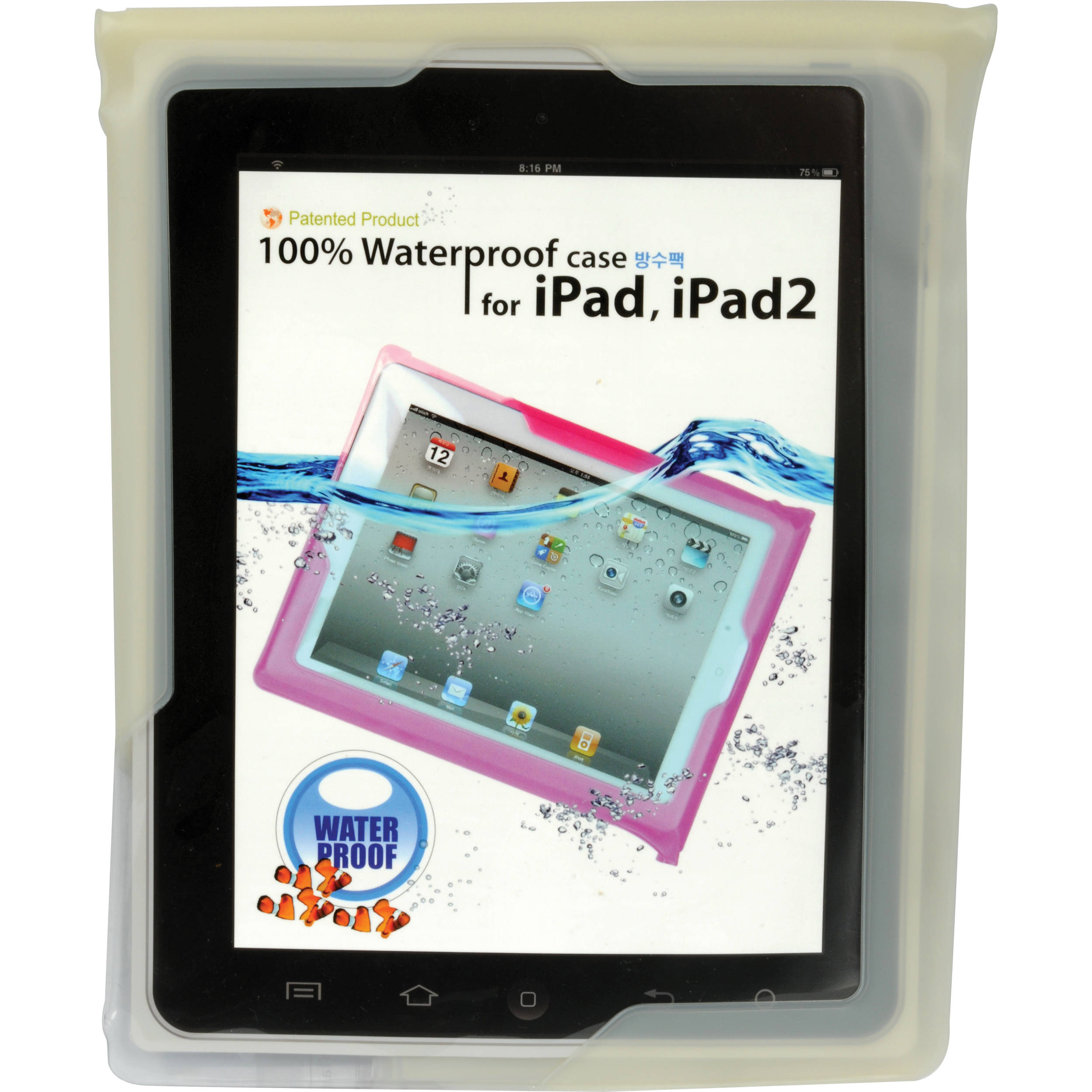 release date a1dba 5803a DiCAPac WPi20 Waterproof Case for Tablet iPads (Off White)