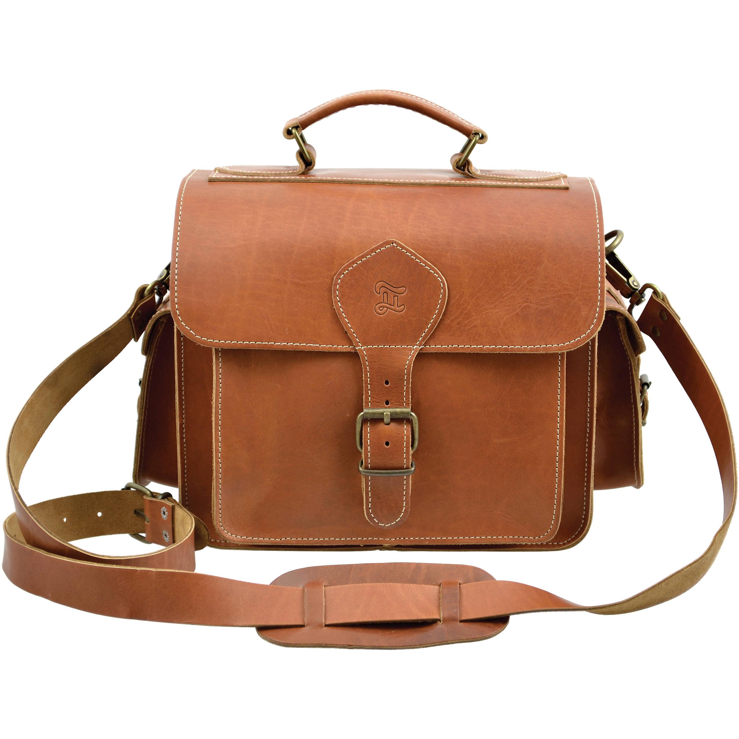 Grafea England Leather Camera Bag Regular Size Caramel