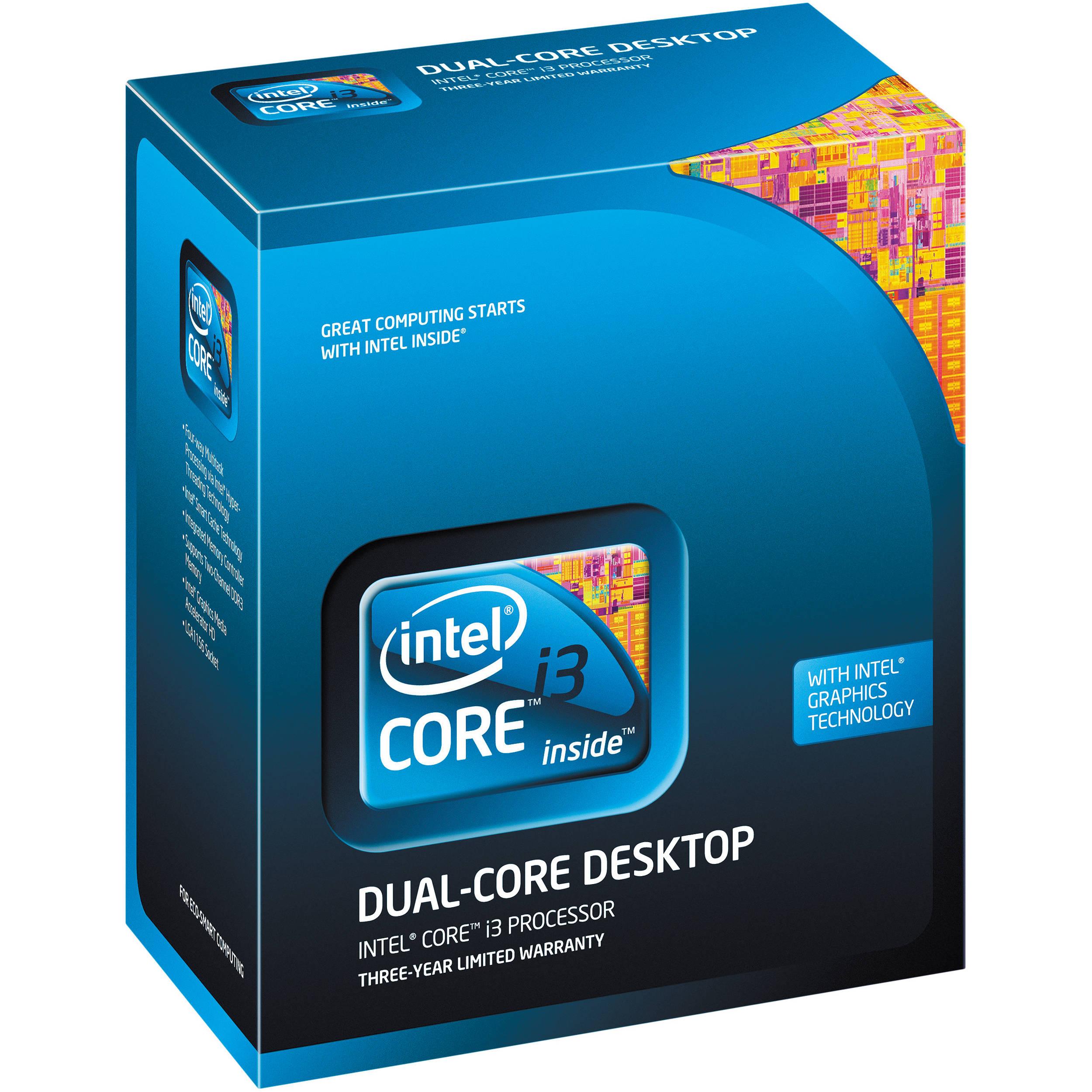 Intel bx80623i32120 intel core i3 2120-3.3 ghz 4 threads 2 cores