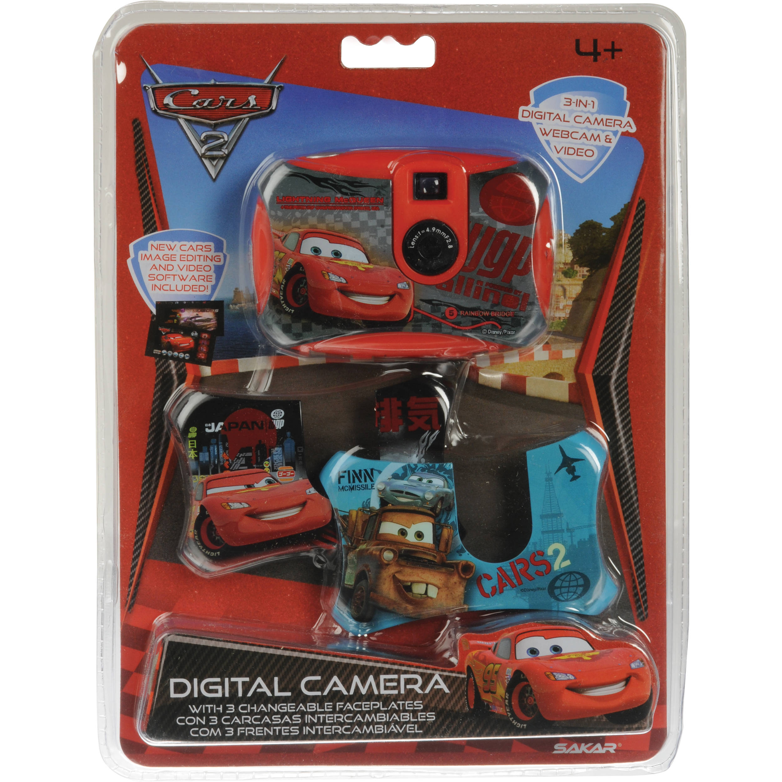 Sakar Cars 2 Digital 3-in-1 Camera with Faceplates