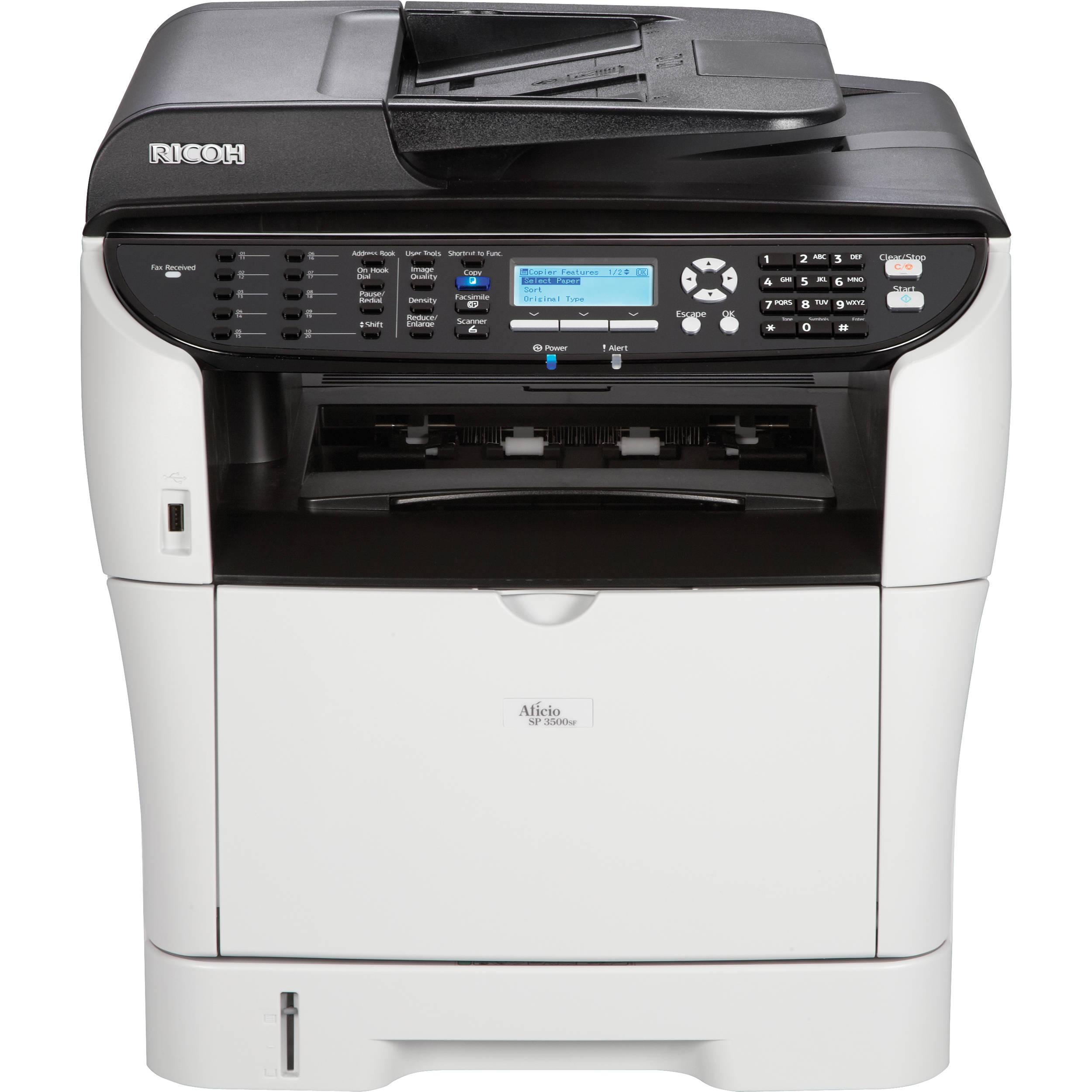 Ricoh Aficio SP 3500SF Network Monochrome All-in-One Laser Printer