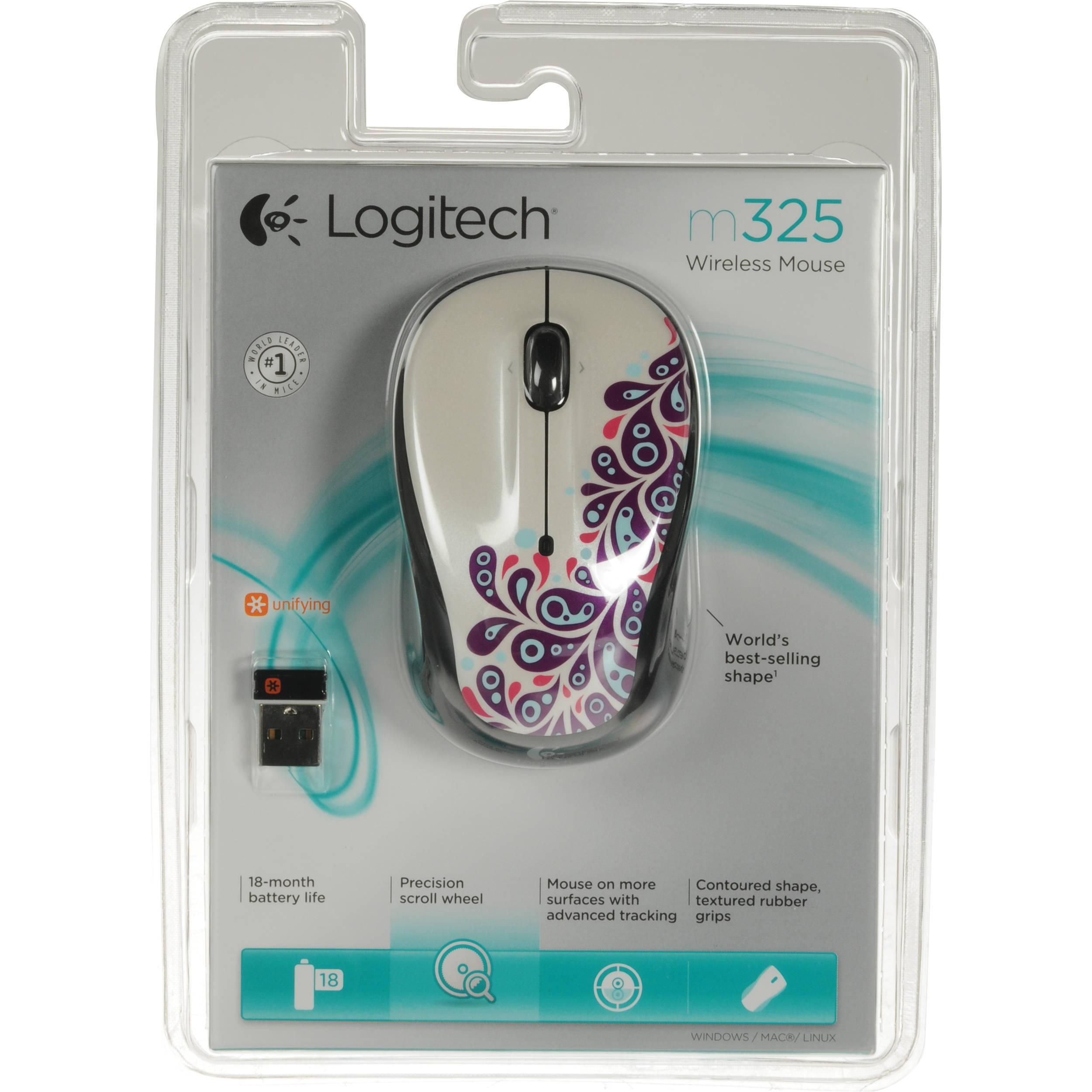 Logitech Wireless Mouse M325 (White)