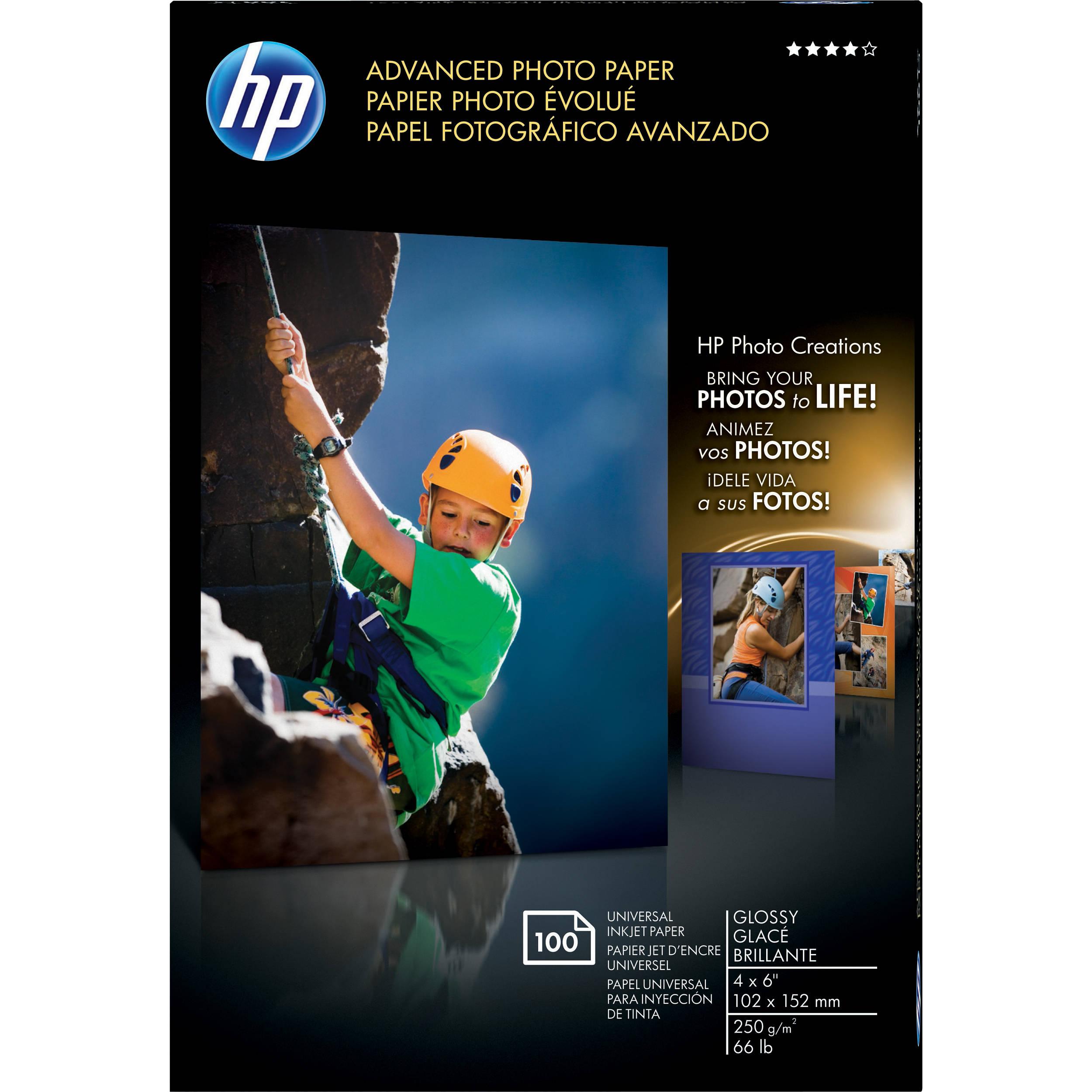 100ct~HP Premium 4X6 Gloss Photo Paper~~#1~Photo~Paper~Borderless
