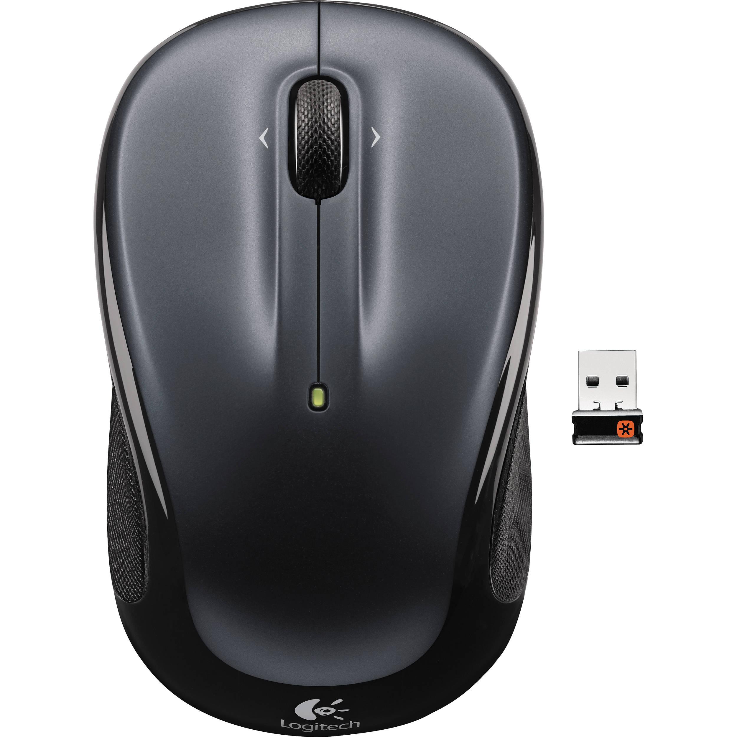 Logitech Mouse M325 Wireless Dark Silver