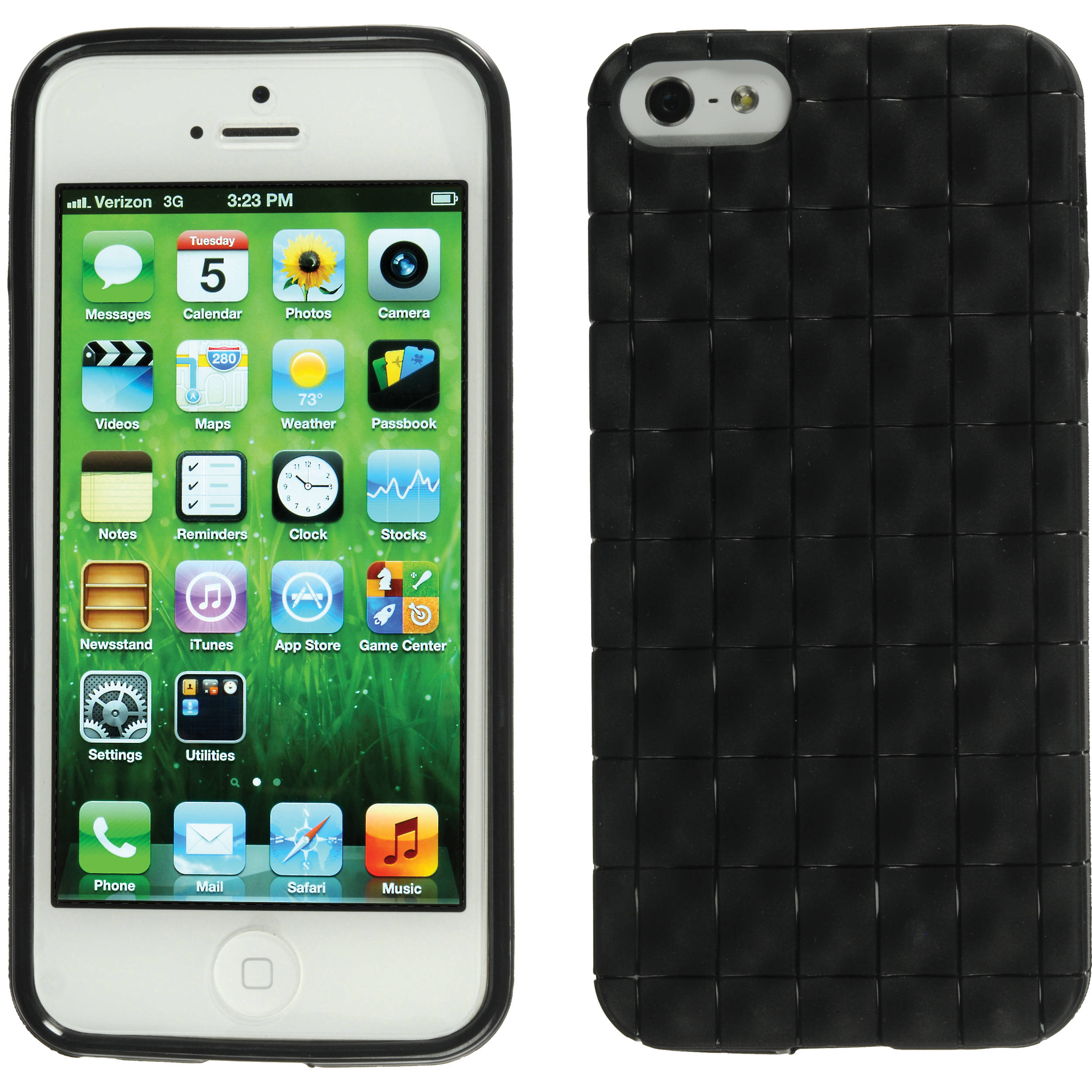 designer fashion 3be9b b1acf Xuma Textured Flex Case for iPhone 5, 5s & SE (Black)