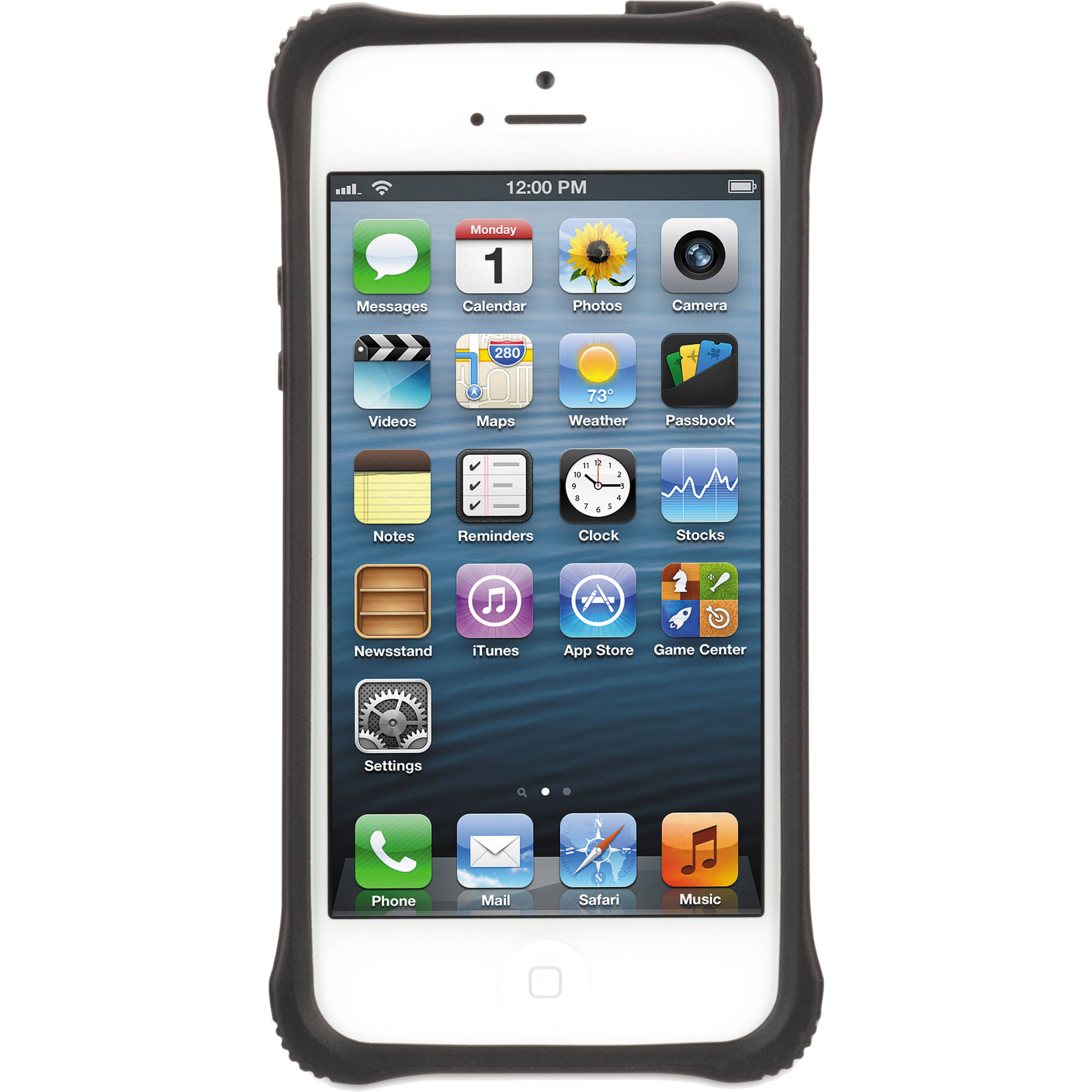 new product ebe0c bf961 Griffin Technology Survivor Clear Protective Case for iPhone 5 (Clear/Black)