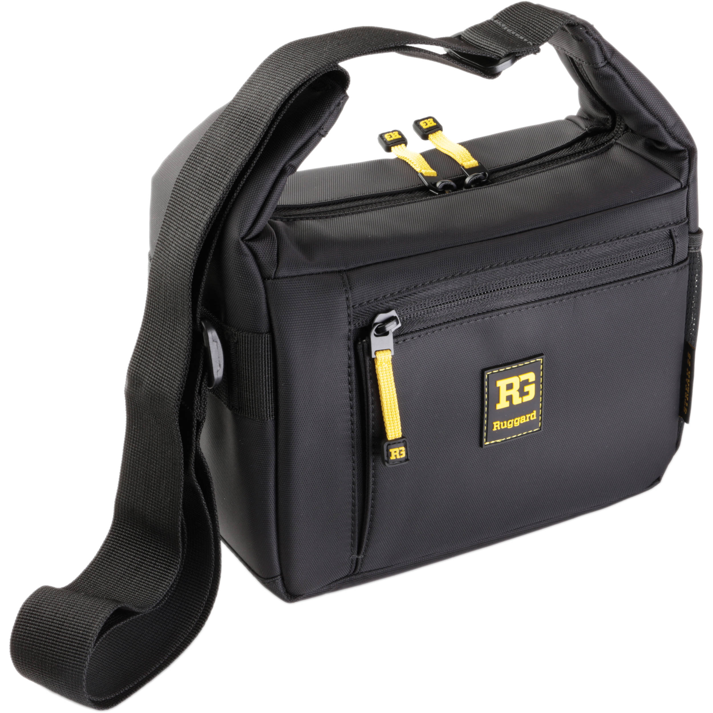 Ruggard Streak 25 Shoulder Bag Black With Yellow Accenting