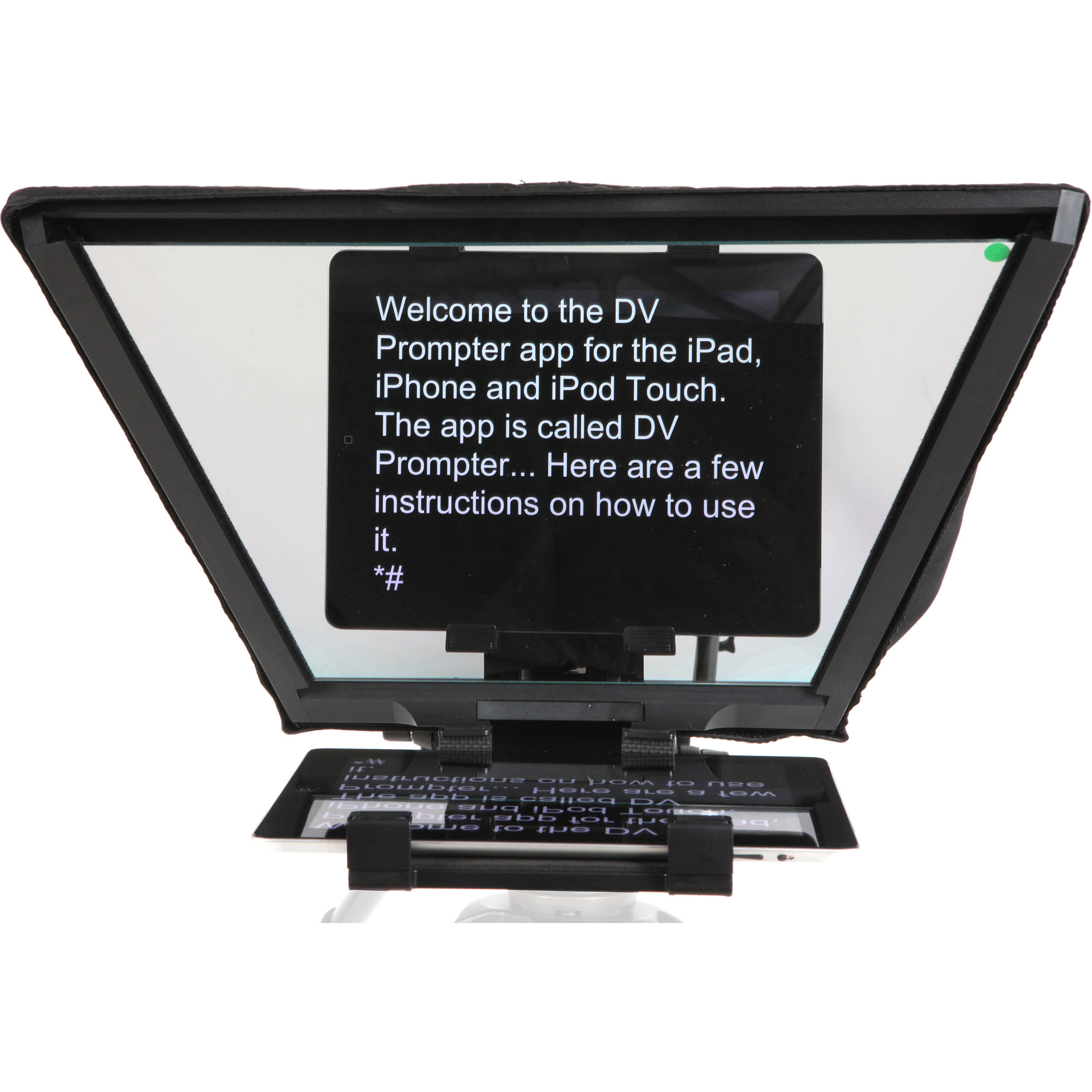 Datavideo TP-600 iPad Teleprompter Kit for ENG Cameras (with Wired Remote  Control)