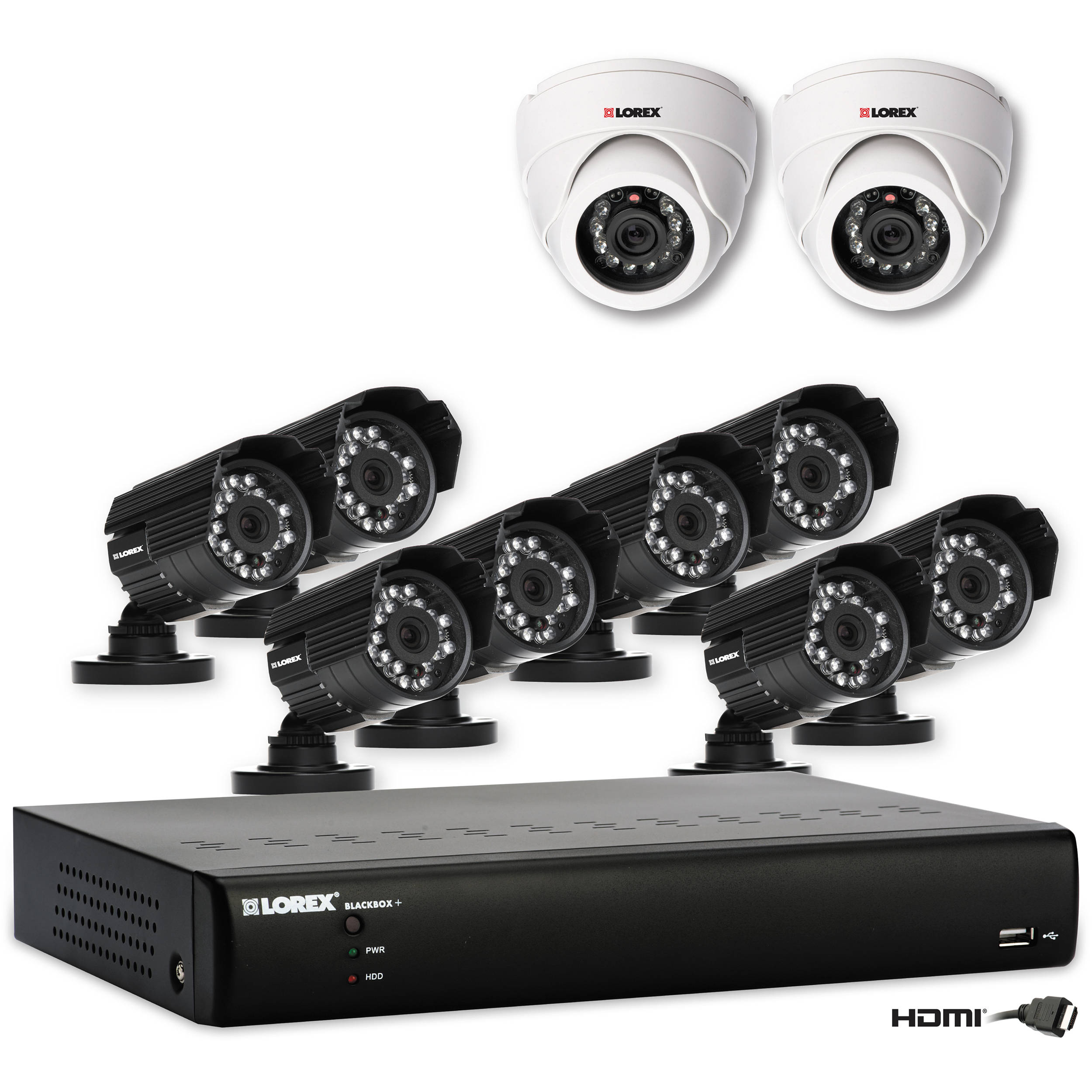 Lorex 10-Camera Super Resolution Security System