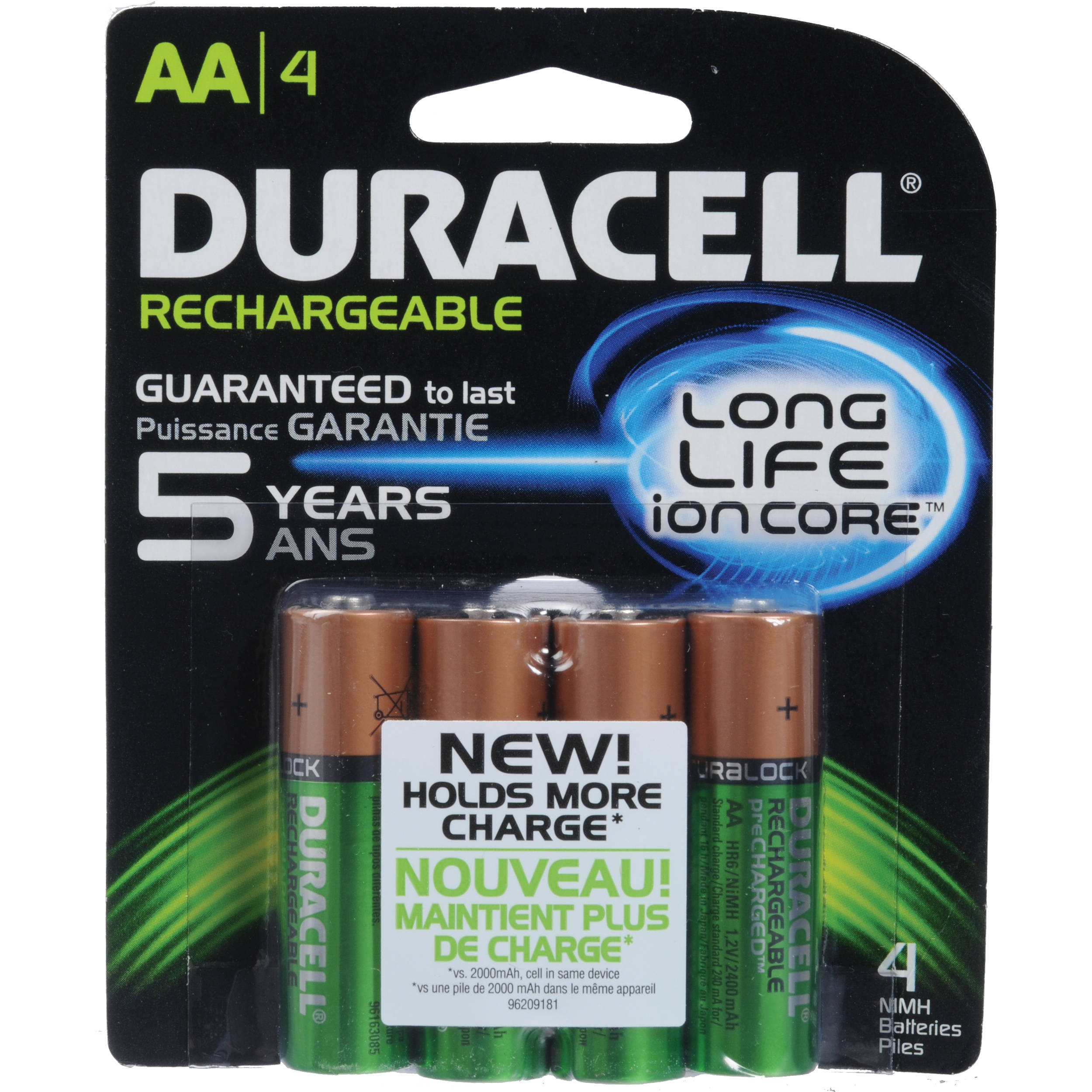 6d2f452fa14 Duracell AA NiMH Pre-Charged Rechargeable Batteries DX1500B4N