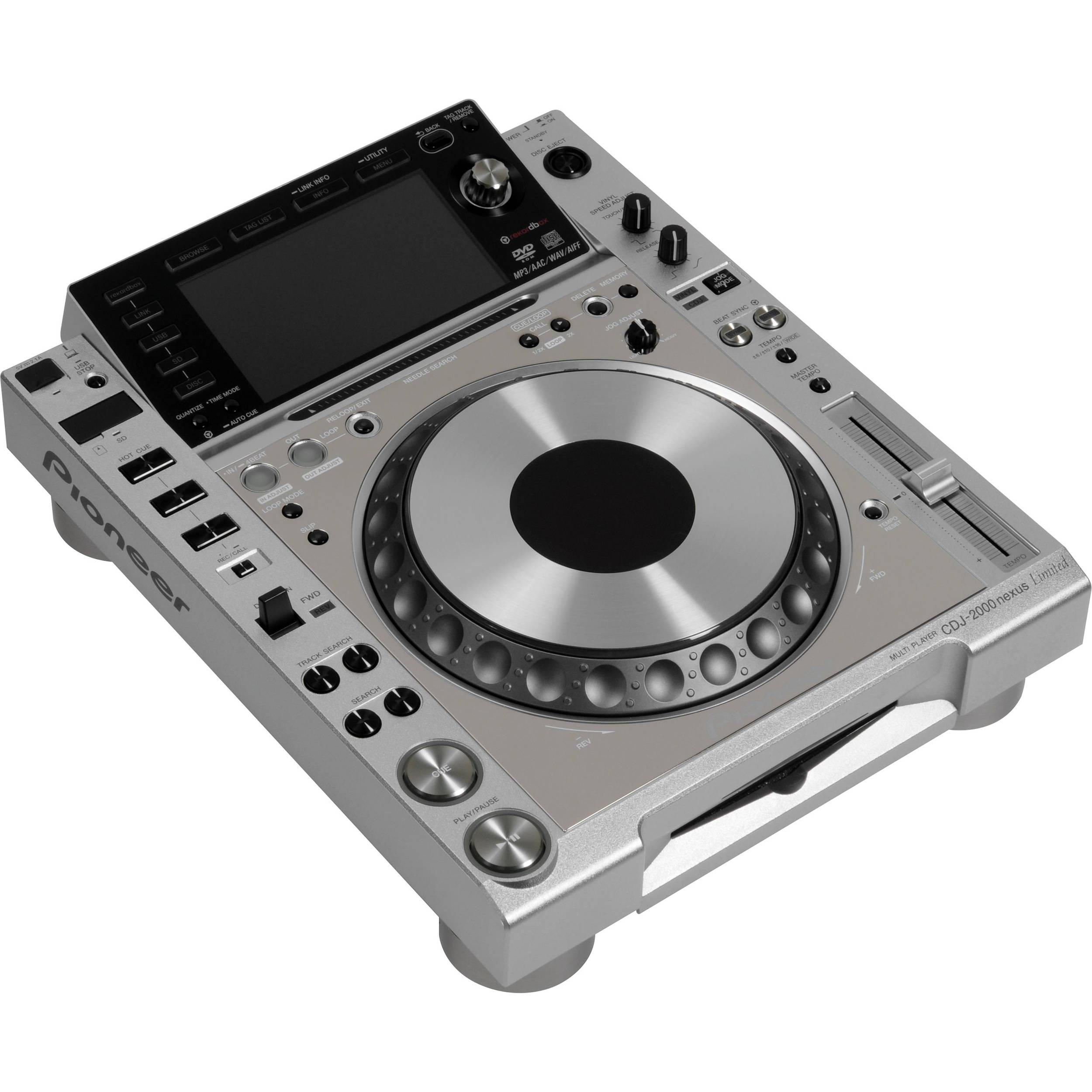 Pioneer CDJ-2000NXS-M nexus Pro-Grade Digital DJ Deck (Platinum)
