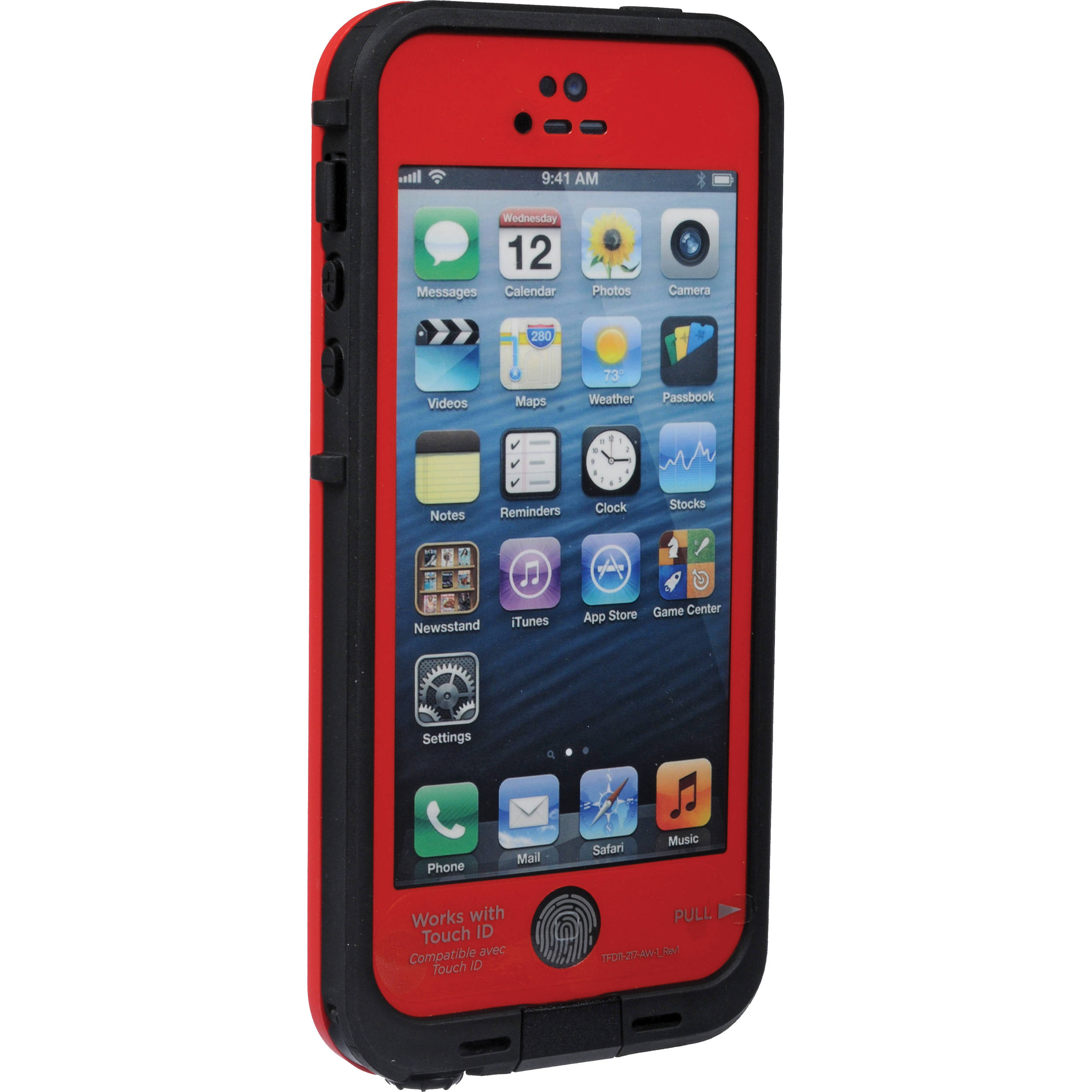 new arrivals 3aa12 32533 LifeProof frē Case for iPhone 5/5s/SE (Red/Black)