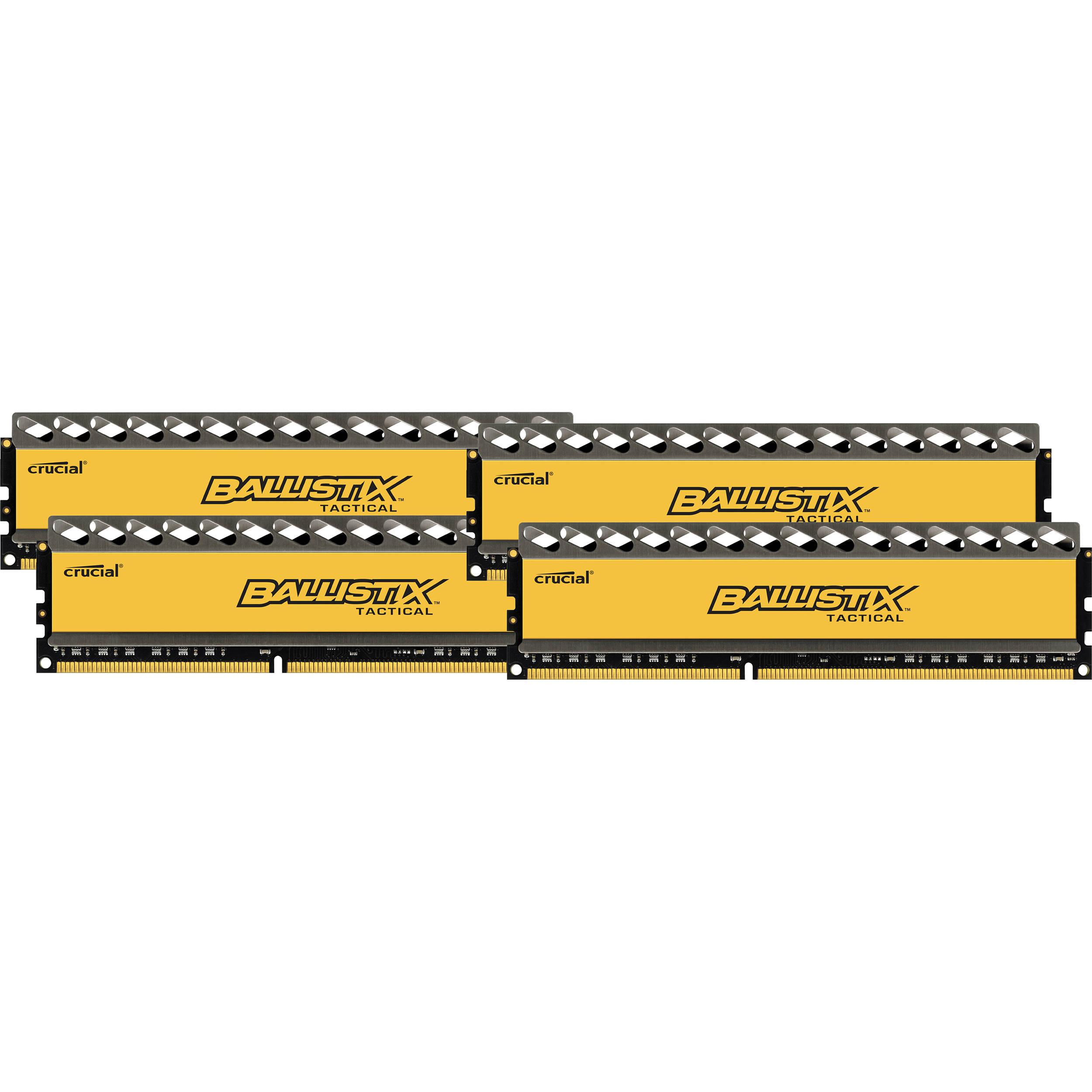 Ballistix 4GB Ballistix Tactical Series DDR3 1600 MHz UDIMM Memory Module