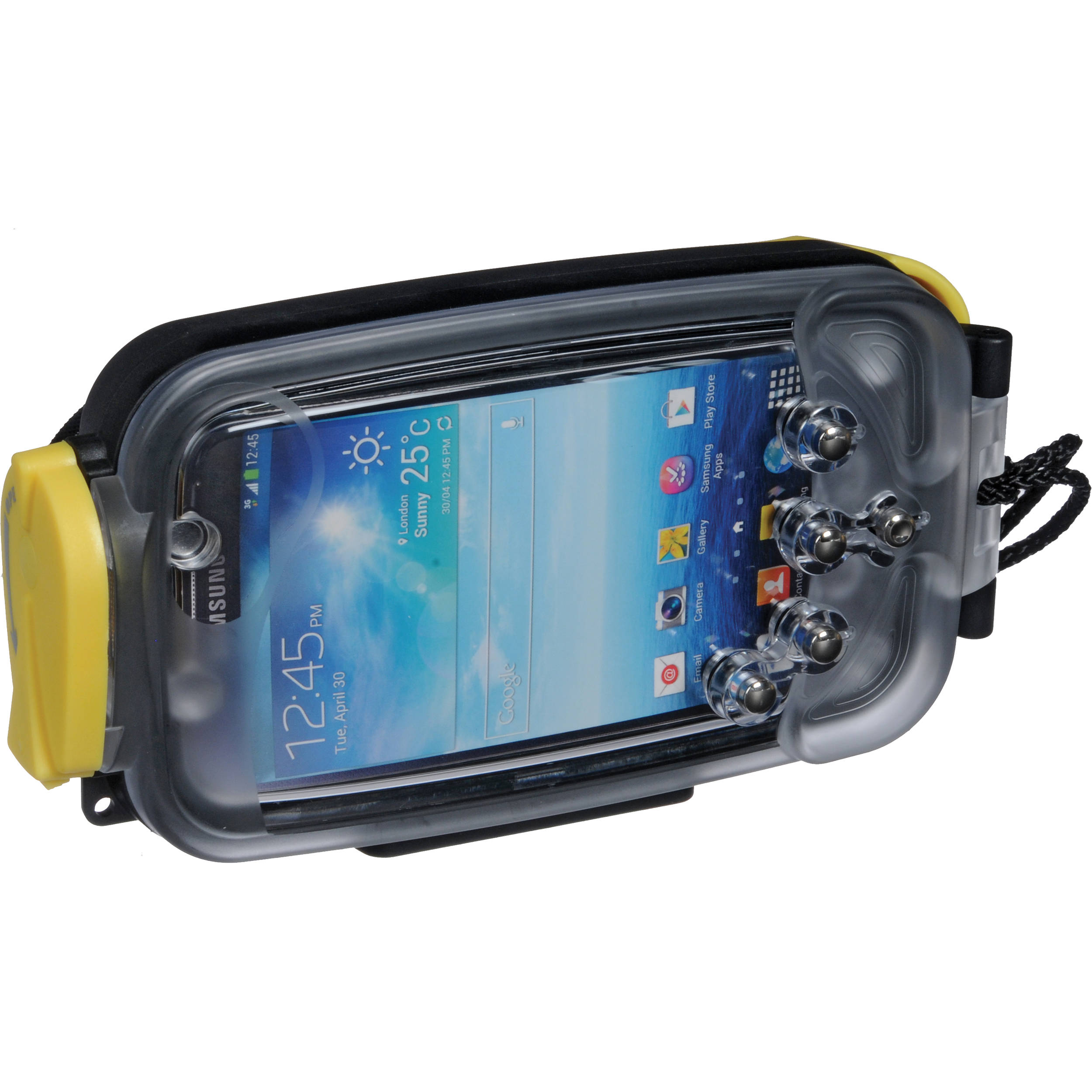 best service 6c62f af5b7 Watershot Underwater Housing for Samsung Galaxy S4 (Black with Yellow  Highlights)