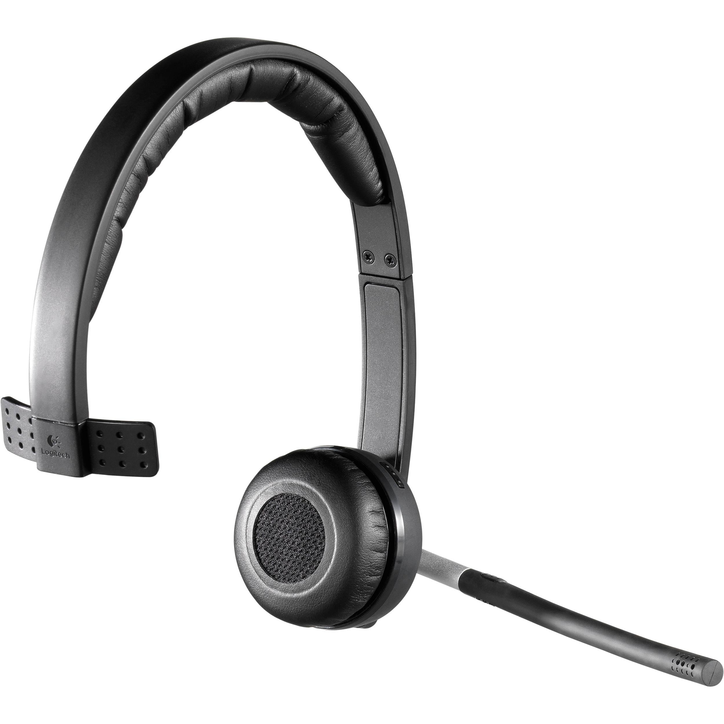 Logitech H820e Wireless Mono Headset 981 000511 B H Photo Video