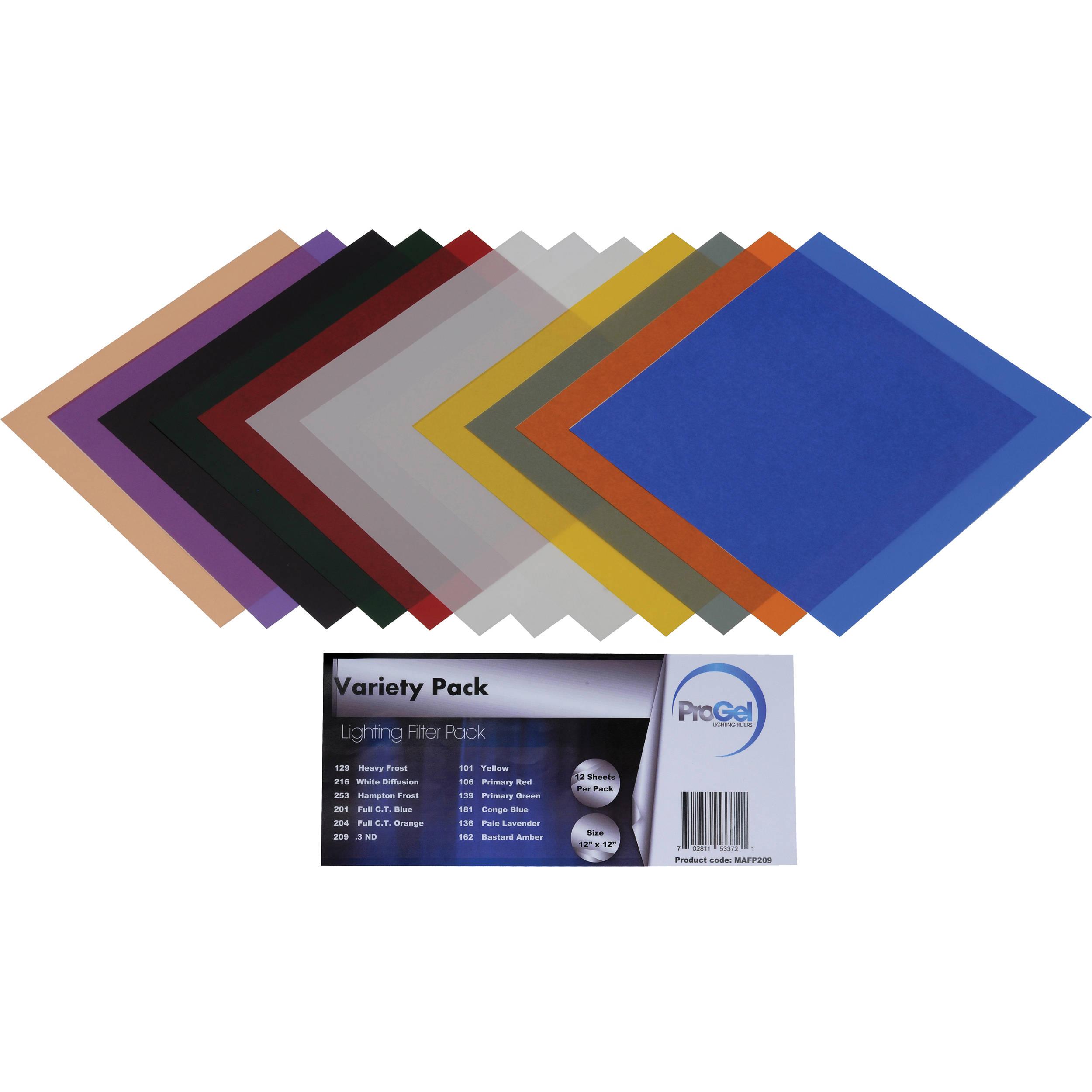 Pro Gel Variety Filter Pack 12 X 30 Cm