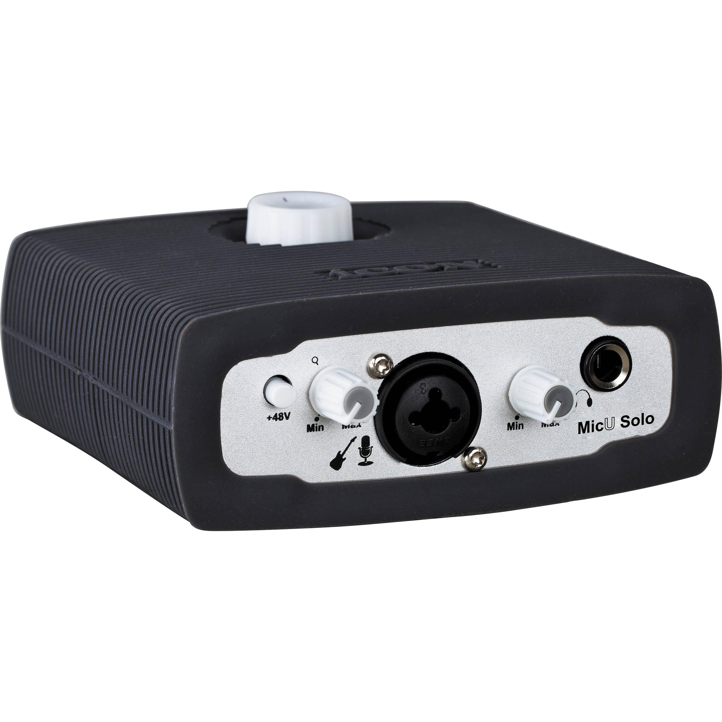 ICON Digital MicU Solo USB 2 0 Recording Audio Interface with Microphone/DI  Preamplifier