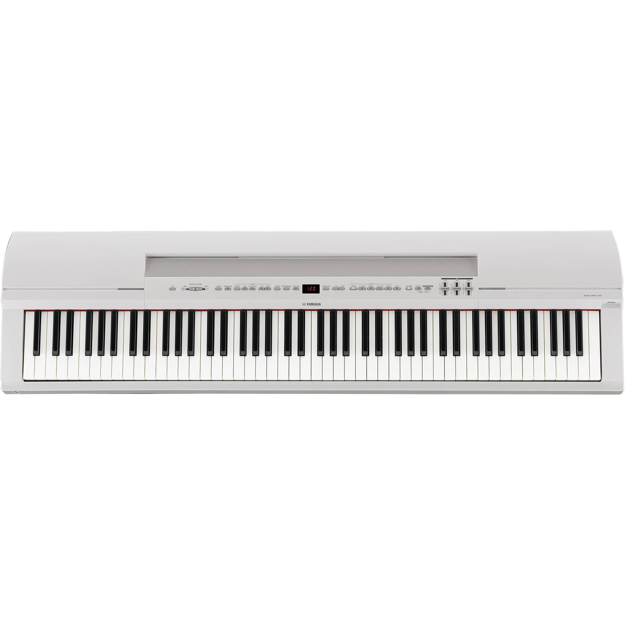 Yamaha P-255WH Digital Piano (White)
