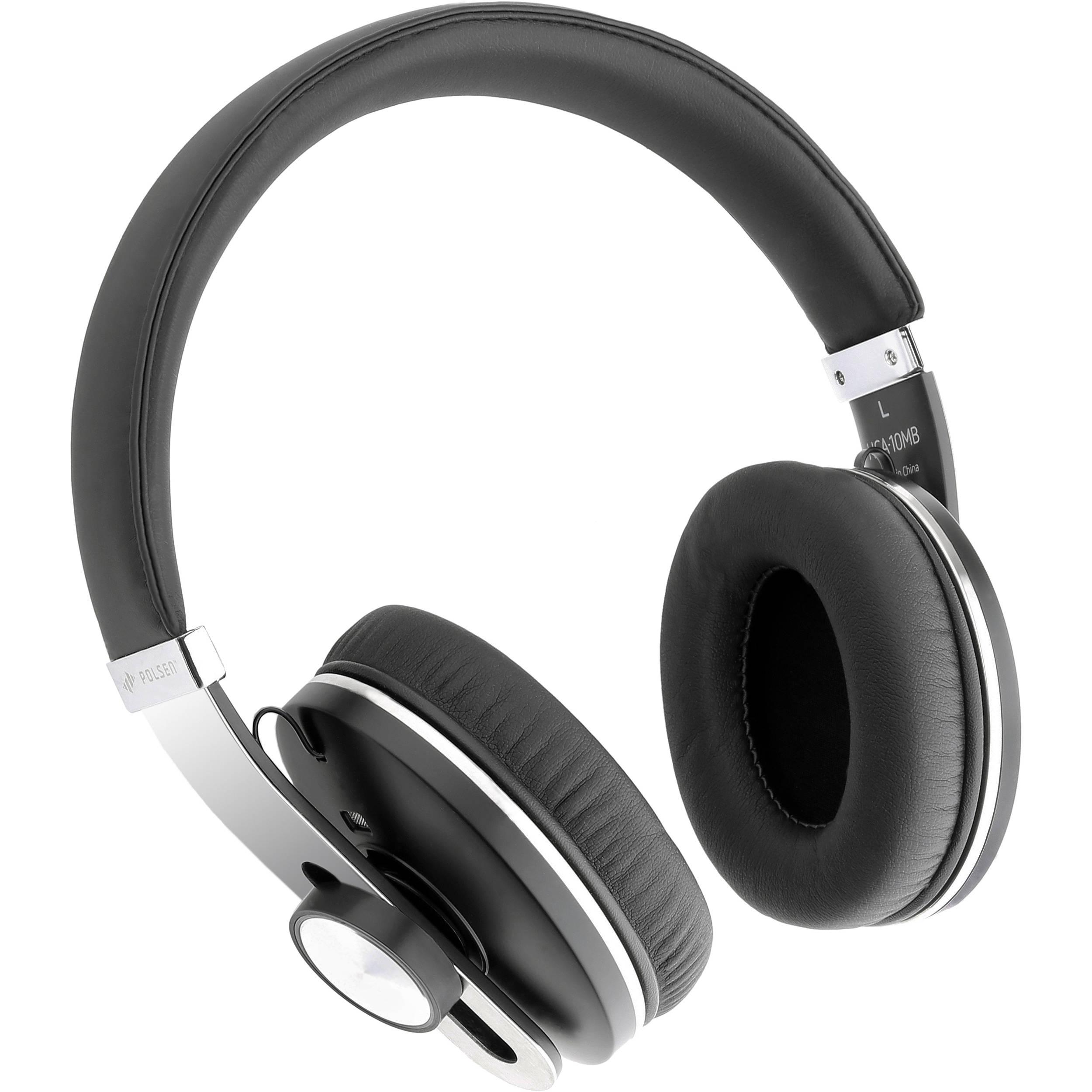 Polsen Hca 10mb Wireless Headphone Around Ear Bluetooth Headset Hca 10mb B H