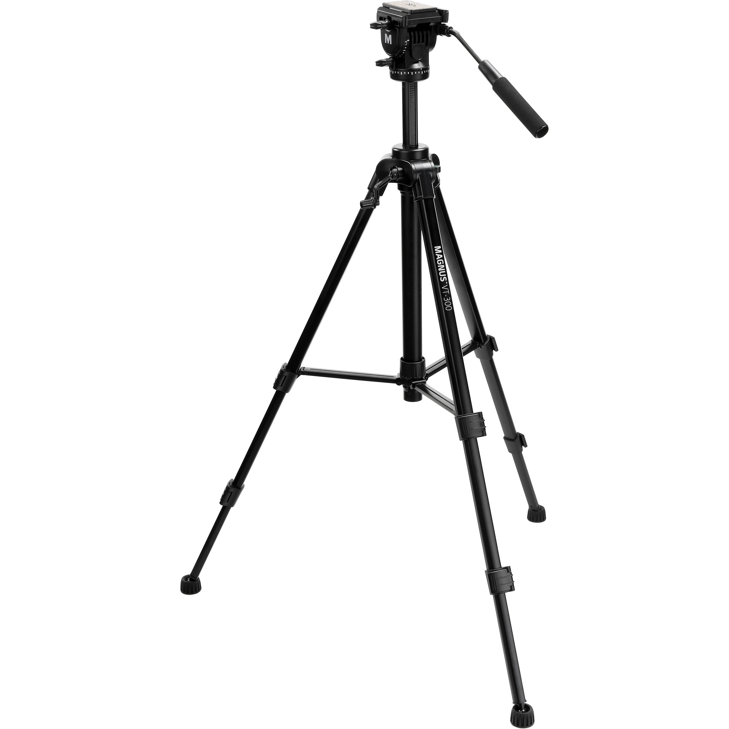Magnus VT-350 Video Tripod with Fluid Head 2 Pack