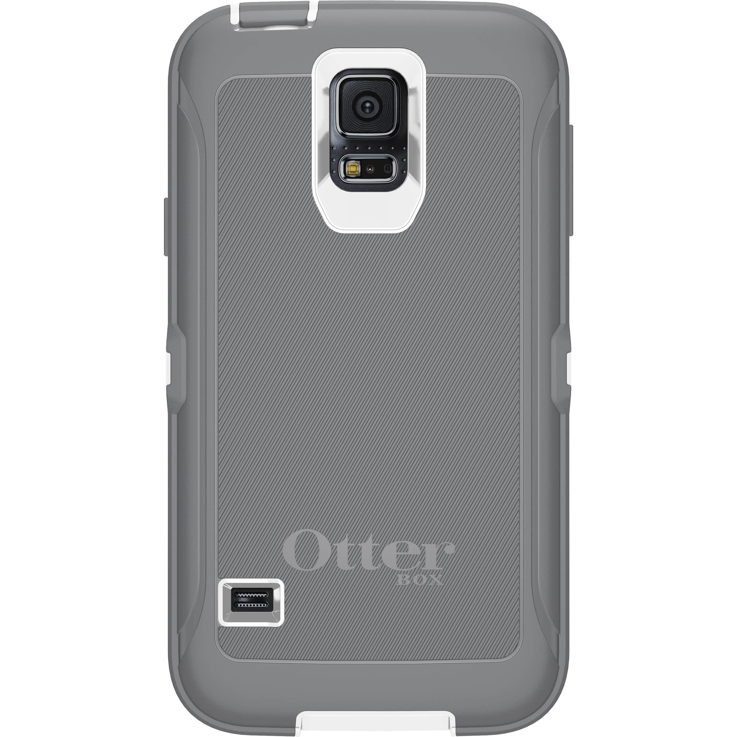 size 40 70a3e b051e OtterBox Defender Series Case for Galaxy S5 (White/Gunmetal Gray)