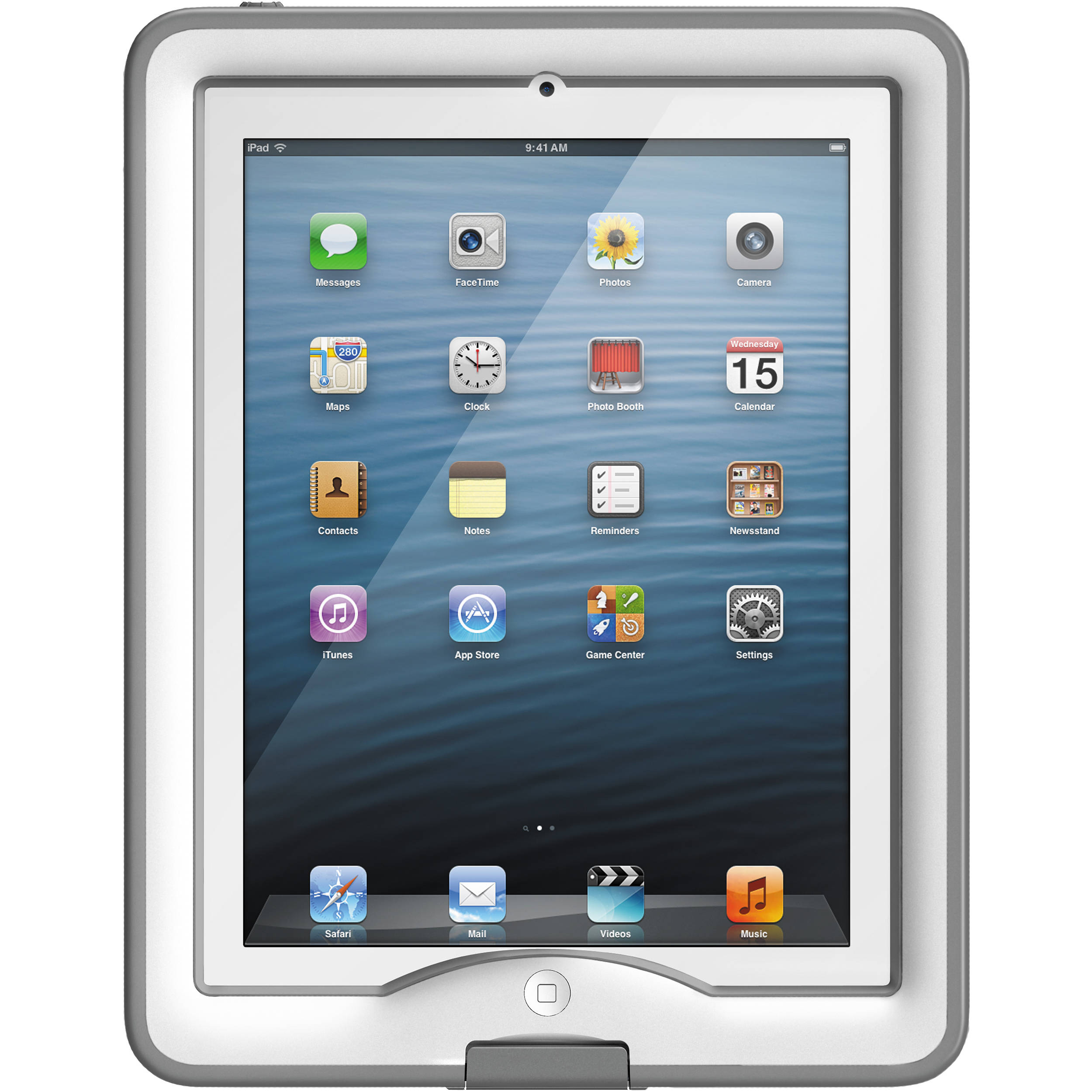 huge selection of e8c12 deb22 LifeProof nüüd Case for iPad Air (White/Gray)