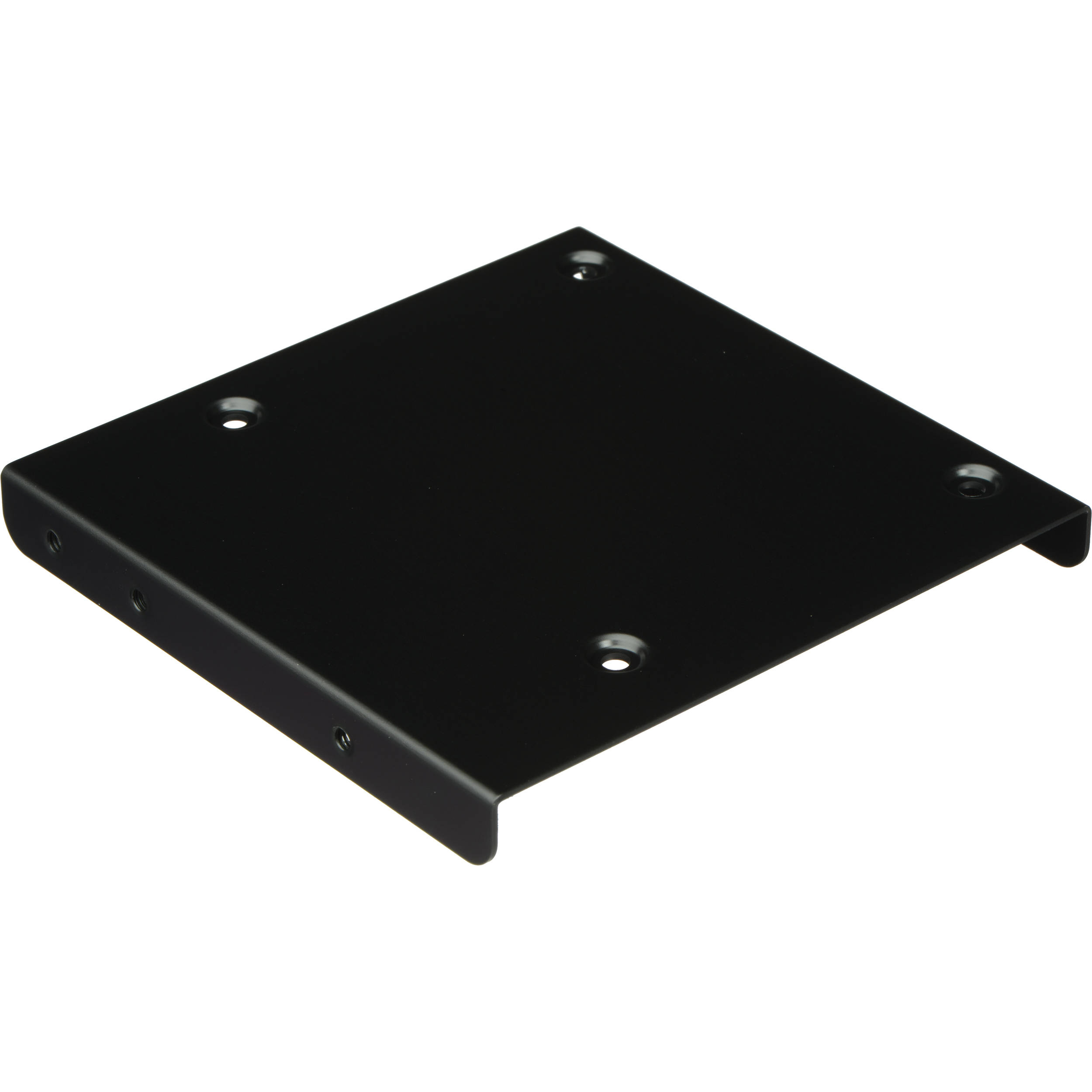"2.5/""SSD to 3.5/"" Hard Drive Dual Desktop PC Bay Adapter Mounting Bracket Black"