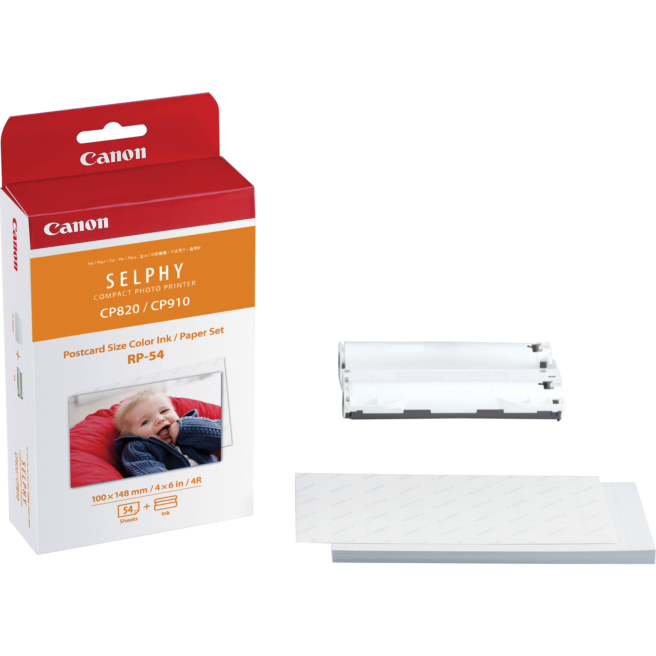 Canon Rp 54 High Capacity Color Ink Paper Set For Selphy