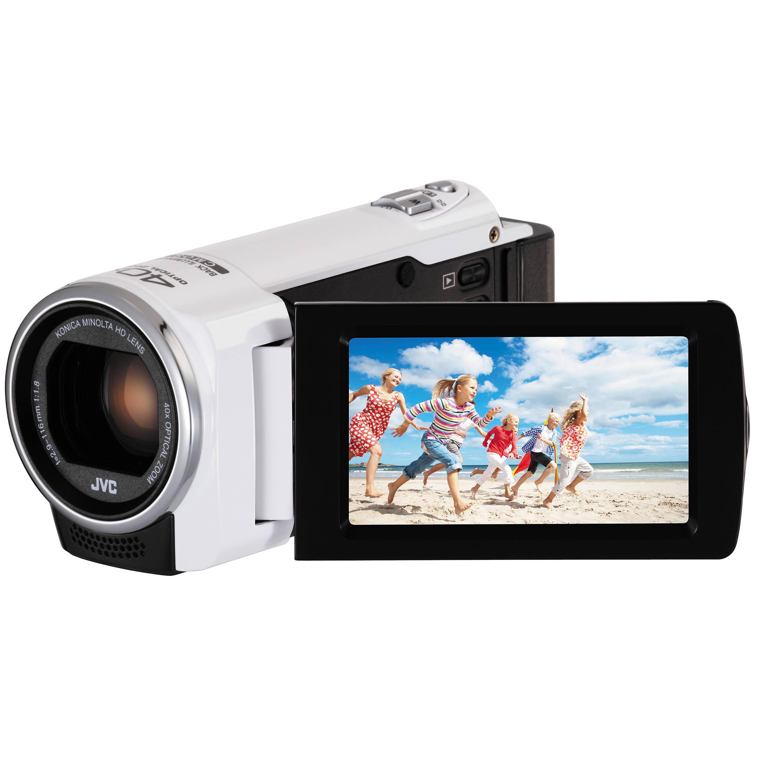 JVC GZ-E100 Full HD Everio Camcorder (White) GZE100WUS B&H Photo