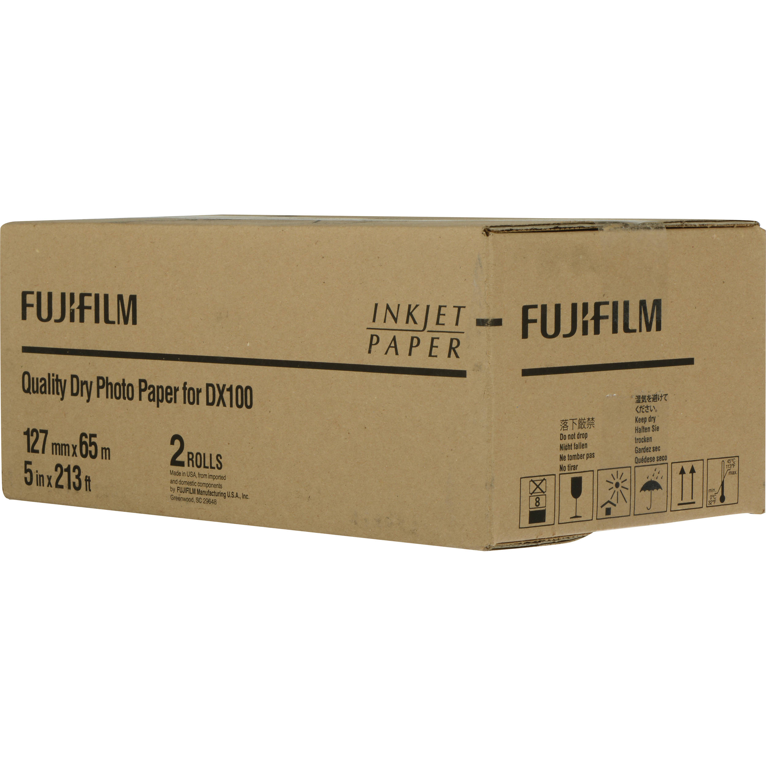 "Lustre,2-Pac Fujifilm 8/""x213 Dry Photo Paper for  Frontier-S DX100 Printer"