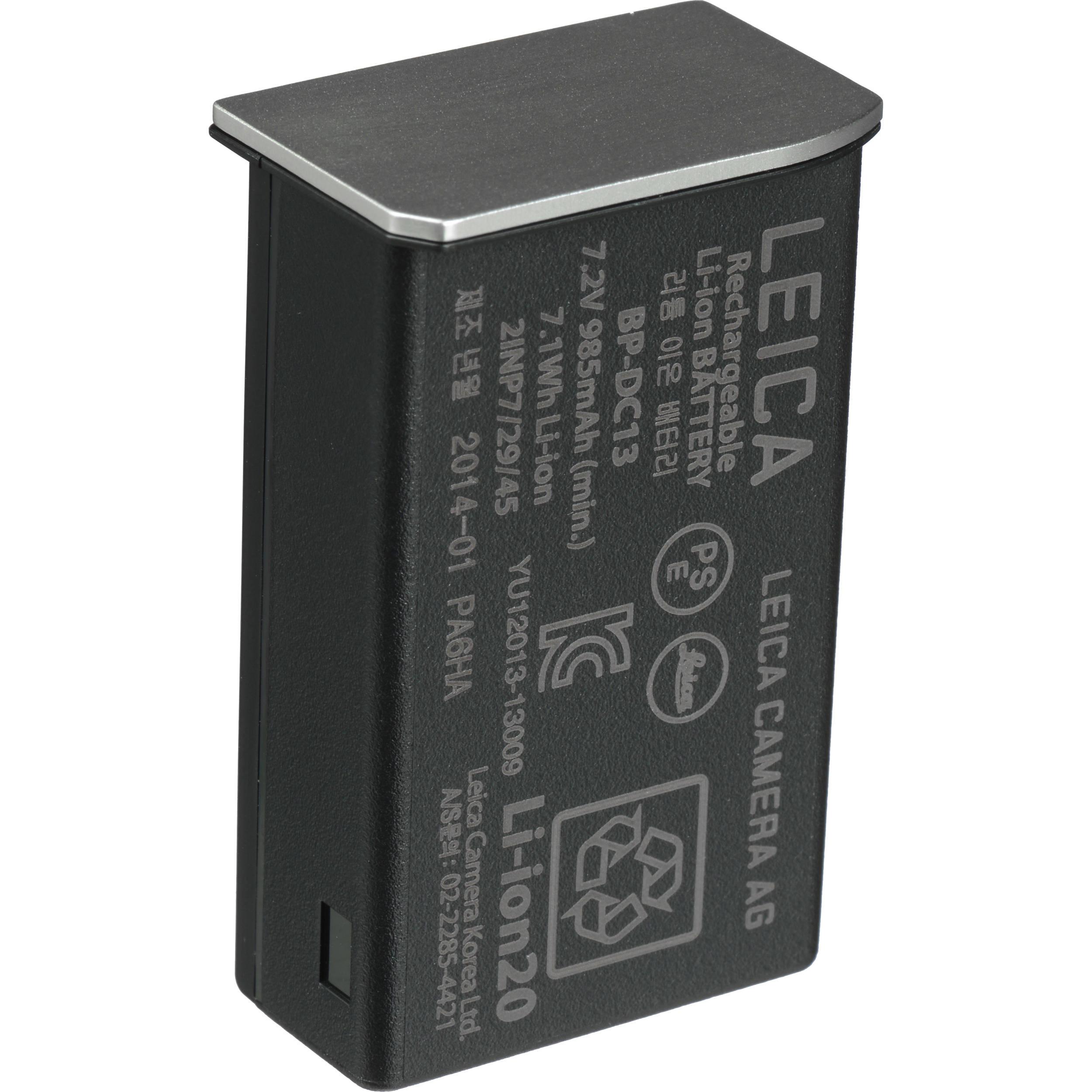 2Wh E Li-Ion BP-DC 3 7,2V 1700mAh//12 Batería para Leica tipo//ref