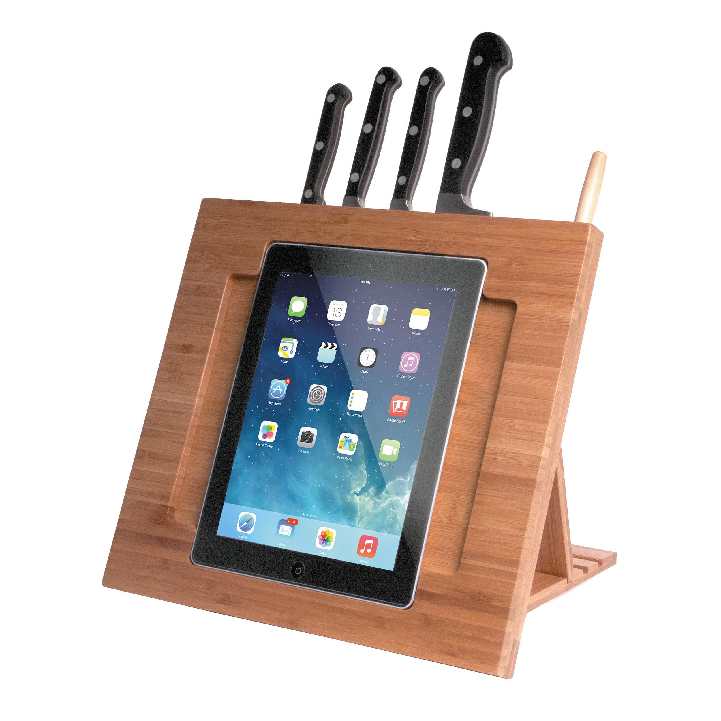 CTA Digital Bamboo Adjustable Kitchen Stand for iPad 2/3/4, iPad Air 1/2,  iPad mini 1/2/3/4