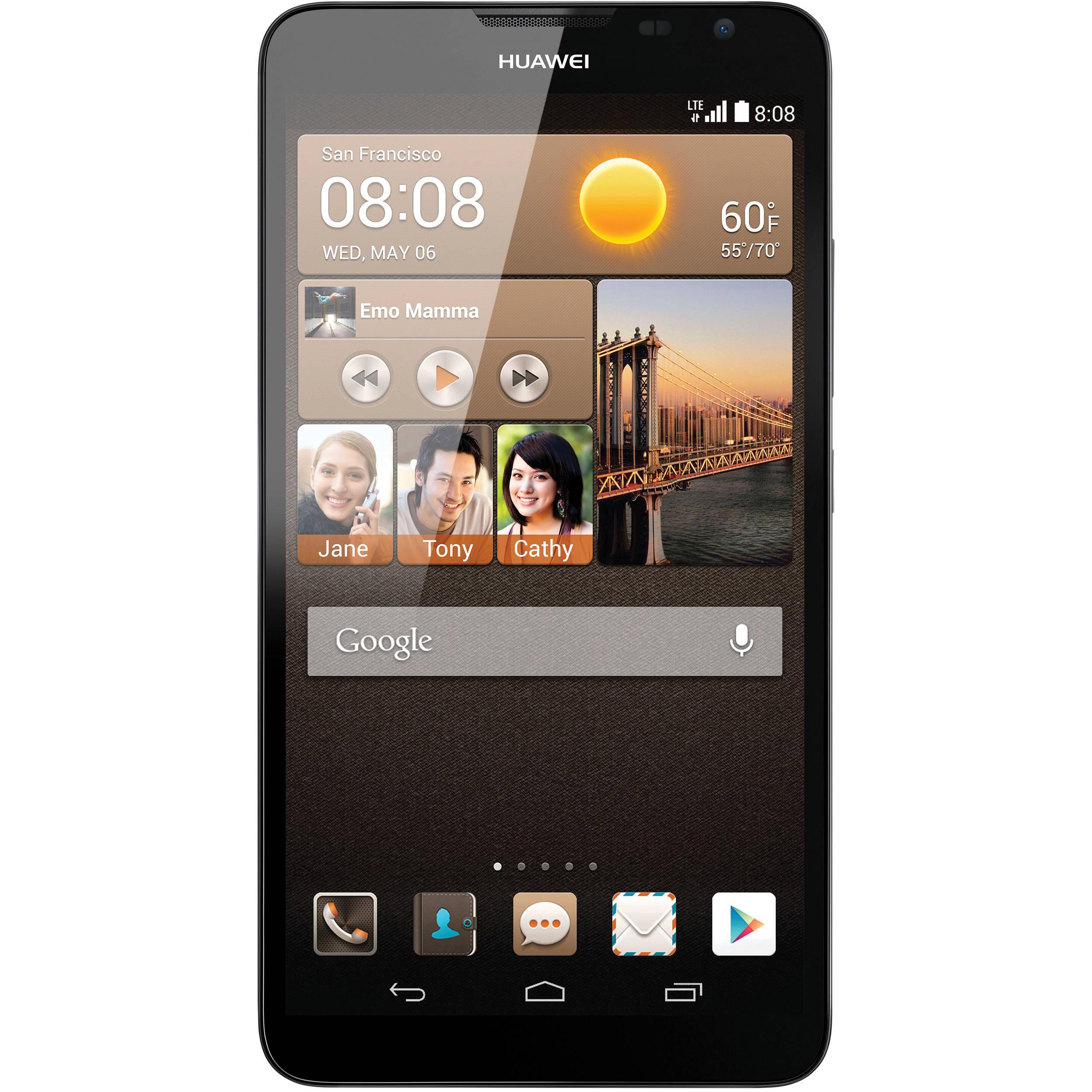 promo code 1f659 675fa Huawei Ascend Mate2 MT2-L03 4G 16GB Smartphone (Unlocked, Black)