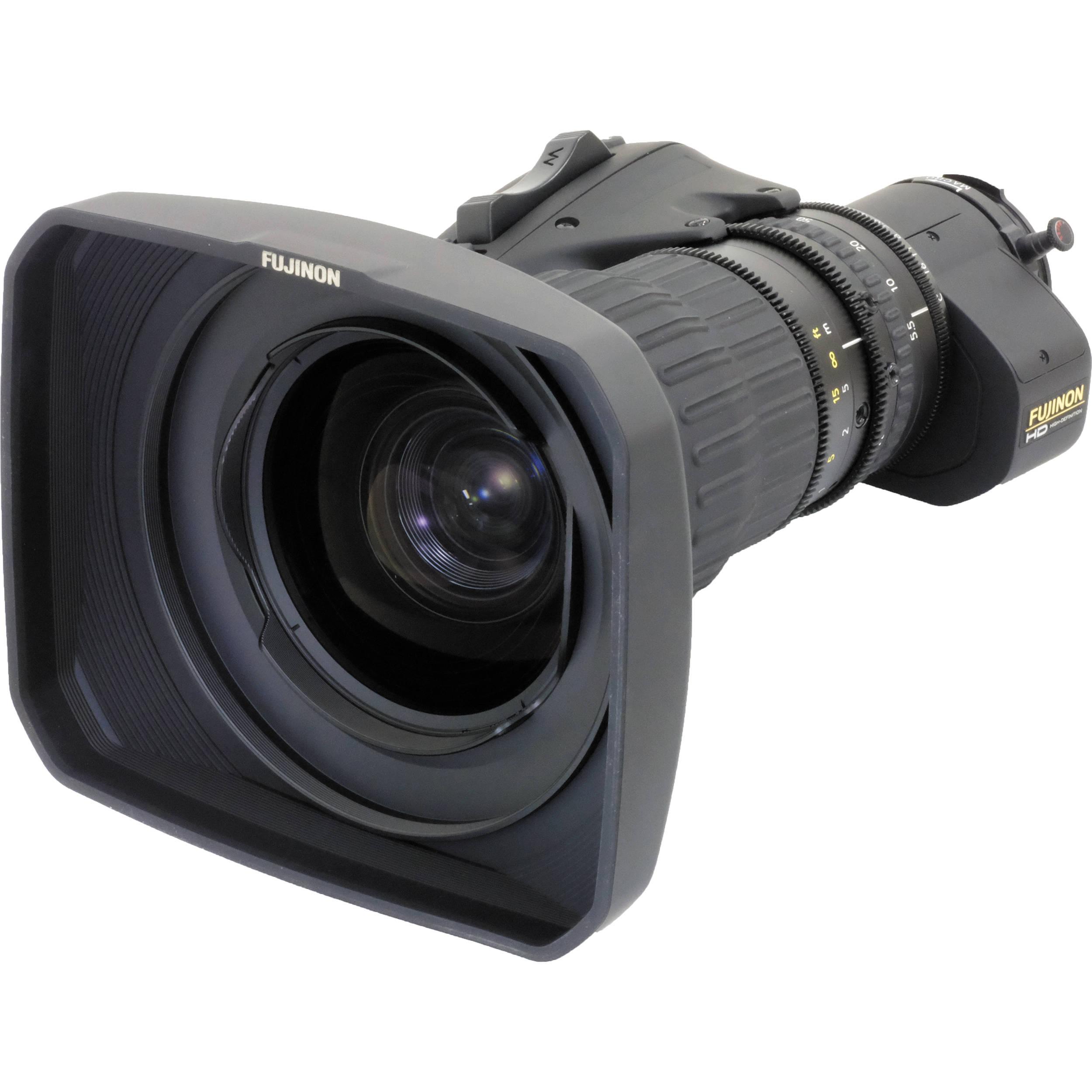 Fujinon HA18X5 5BERM-M6 Premier Series ENG/EFP Lens with Manual Focus,  Servo Zoom, and Robotics Applications