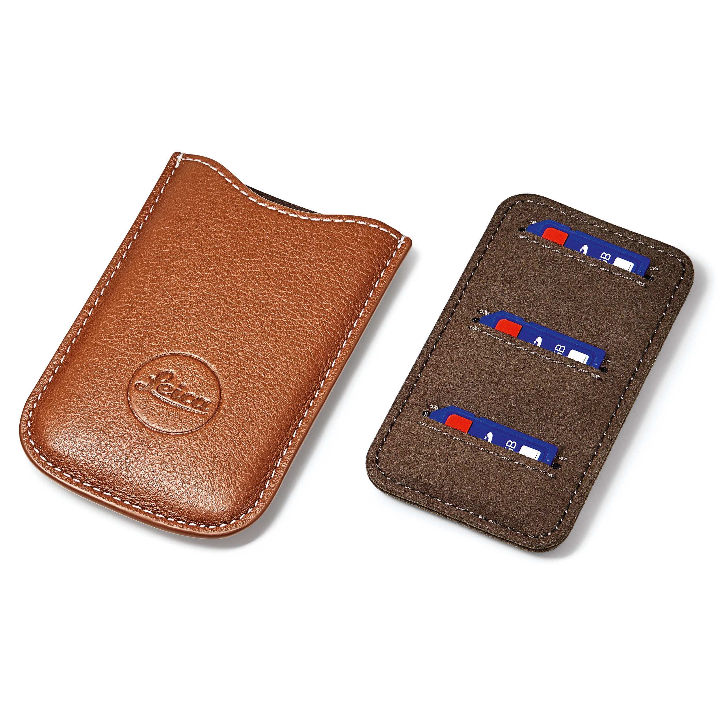 748d6cd79f1 Leica SD and Credit Card Holder (Cognac) 18539 B&H Photo Video