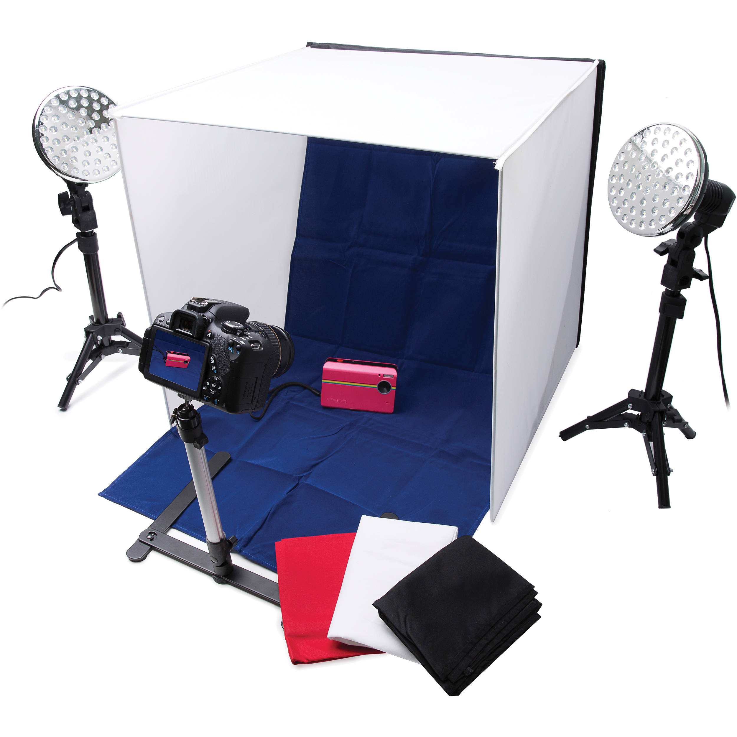 Polaroid Pro Table Top Photo Studio Kit Plpsled B H Photo Video
