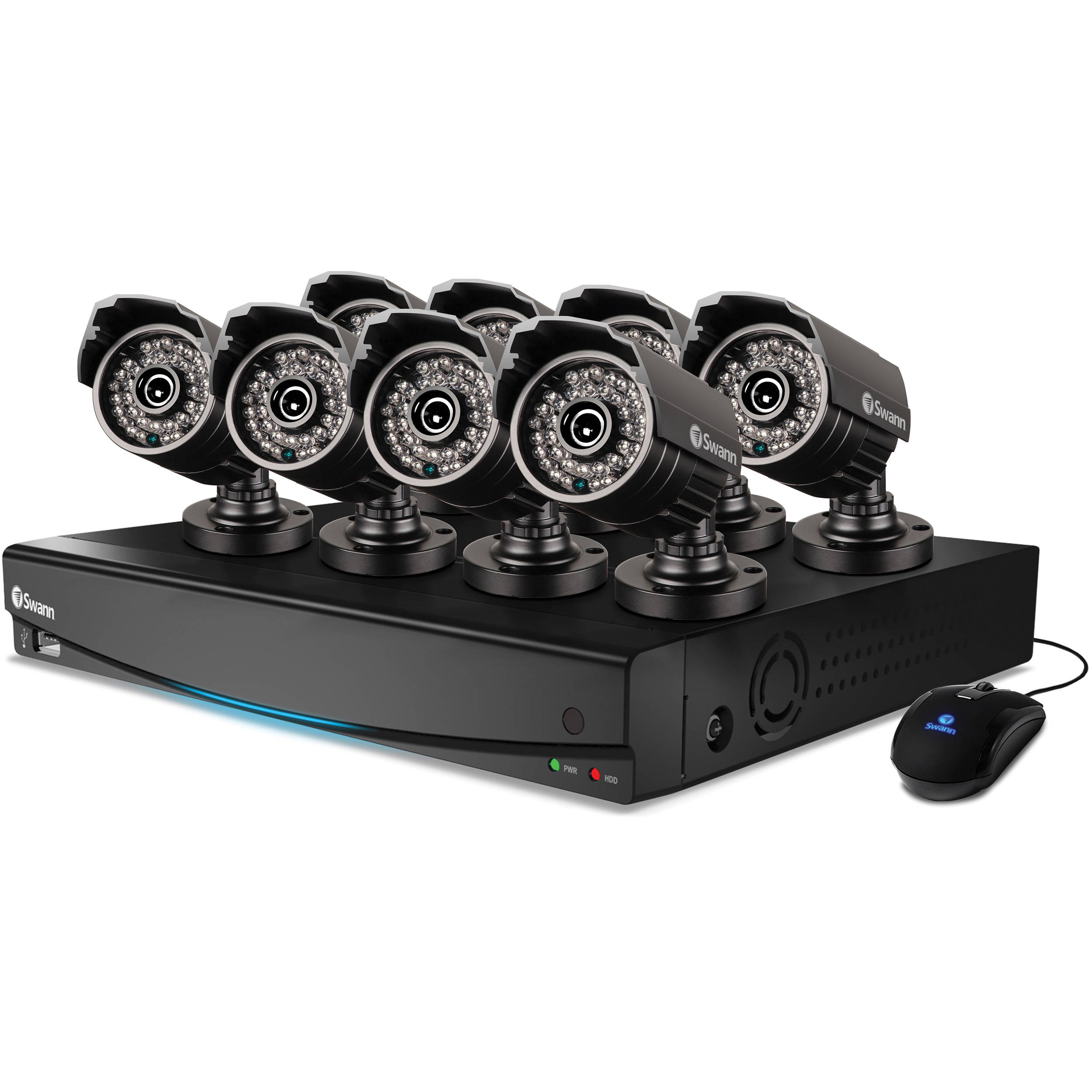 Swann DVR8-3425 8-Channel 960H DVR with 1TB HDD and Eight PRO-735 Cameras