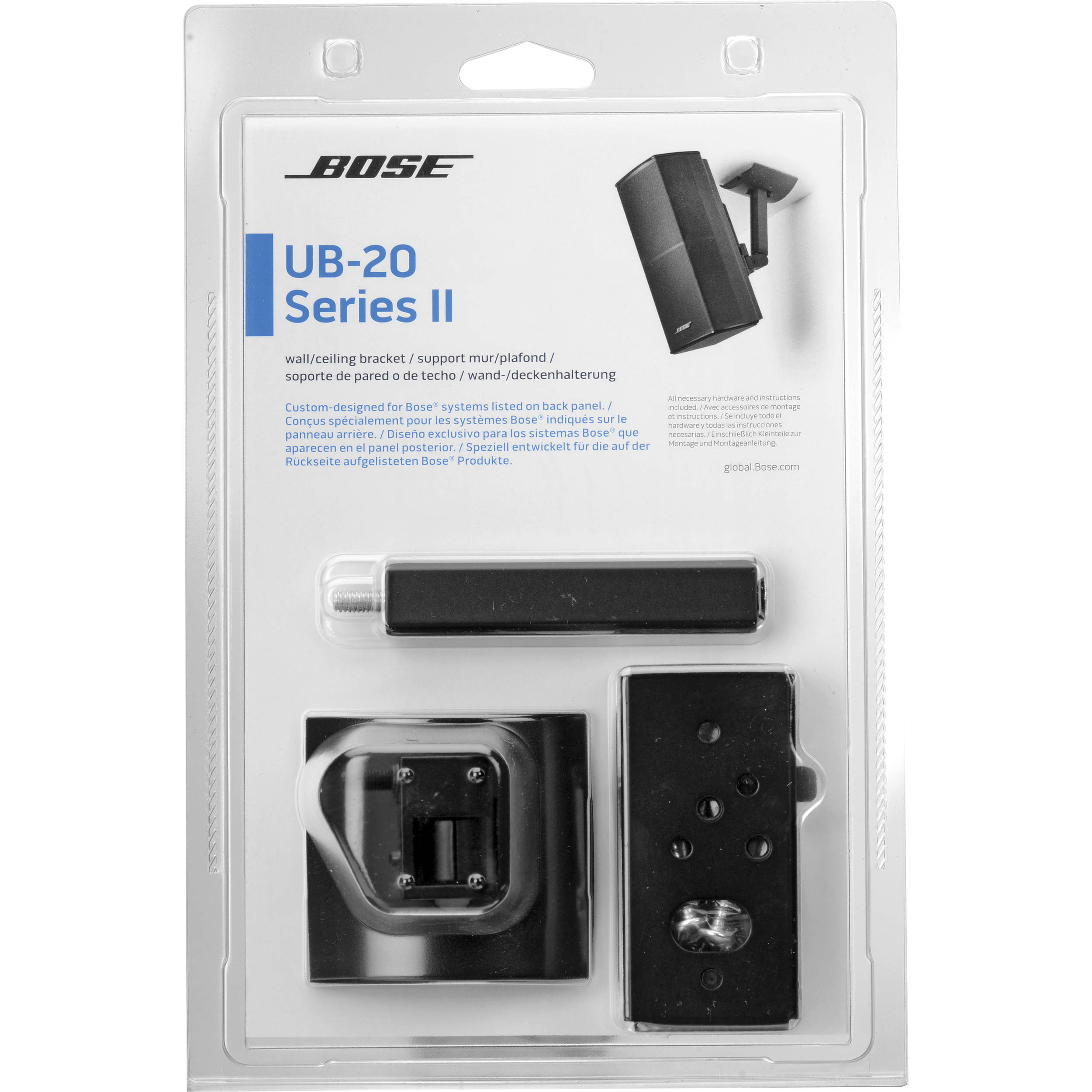Bose UB-20 Series II Wall/Ceiling Bracket (Black)