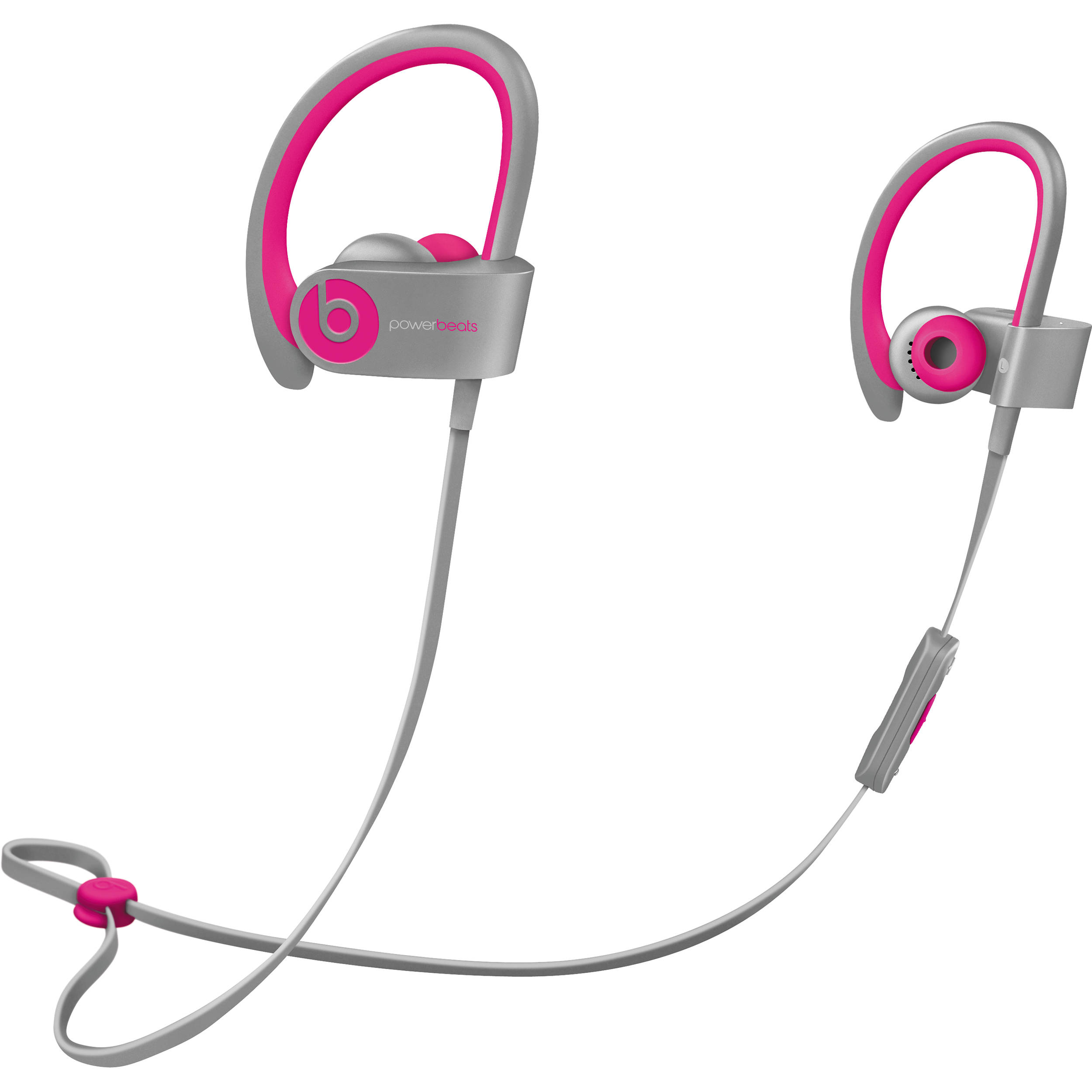 Beats by Dr  Dre Powerbeats2 Wireless Earbuds (Pink and Gray)