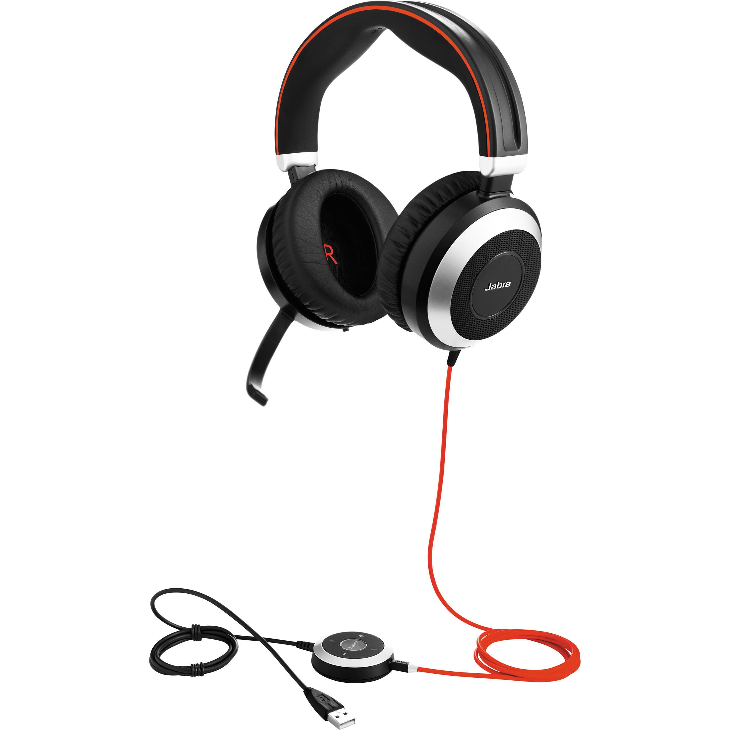 Jabra Evolve 80 Uc Stereo Headset 7899 829 209 B H Photo Video
