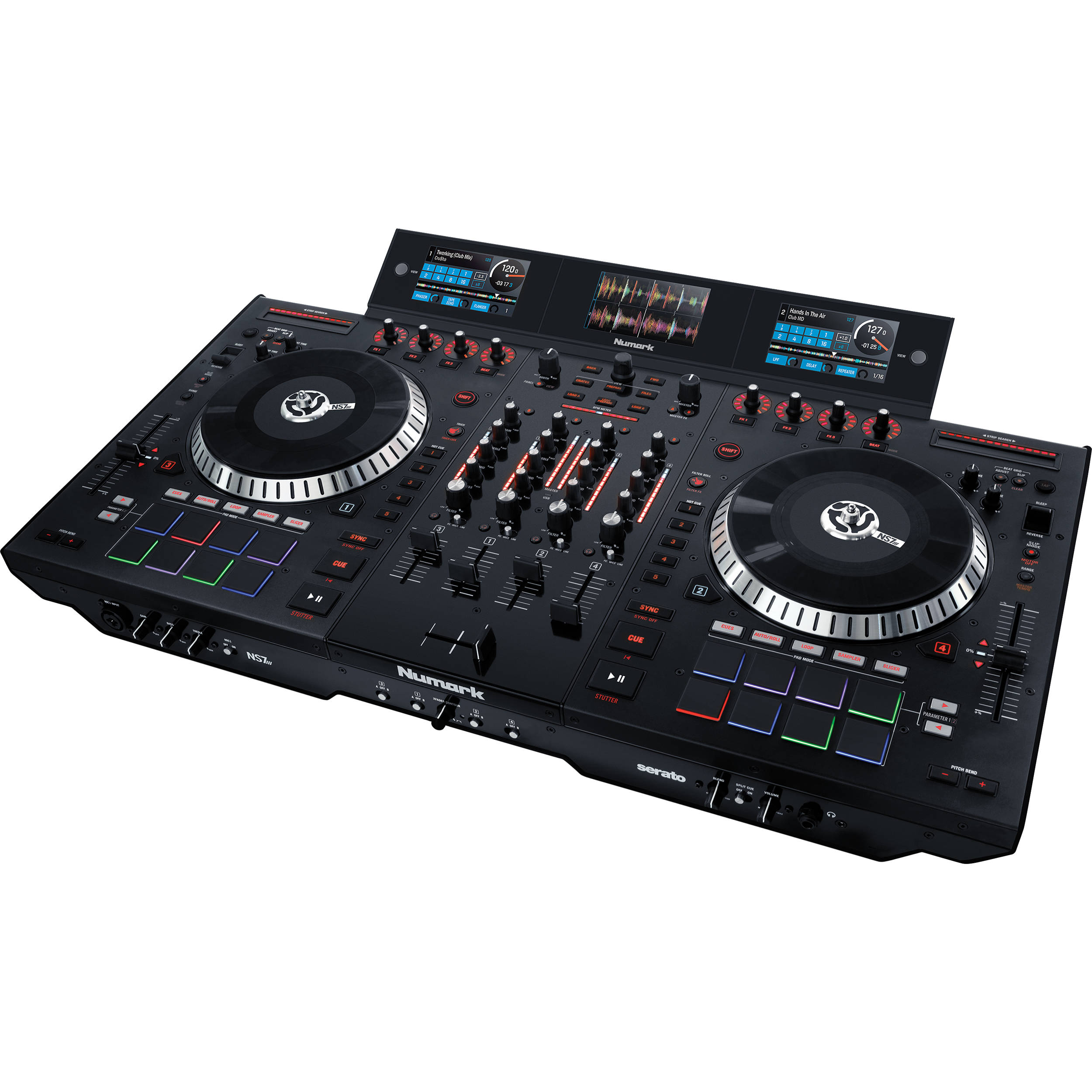 Numark NS7III 4-Deck Serato DJ Controller/Mixer with Multiscreen Display
