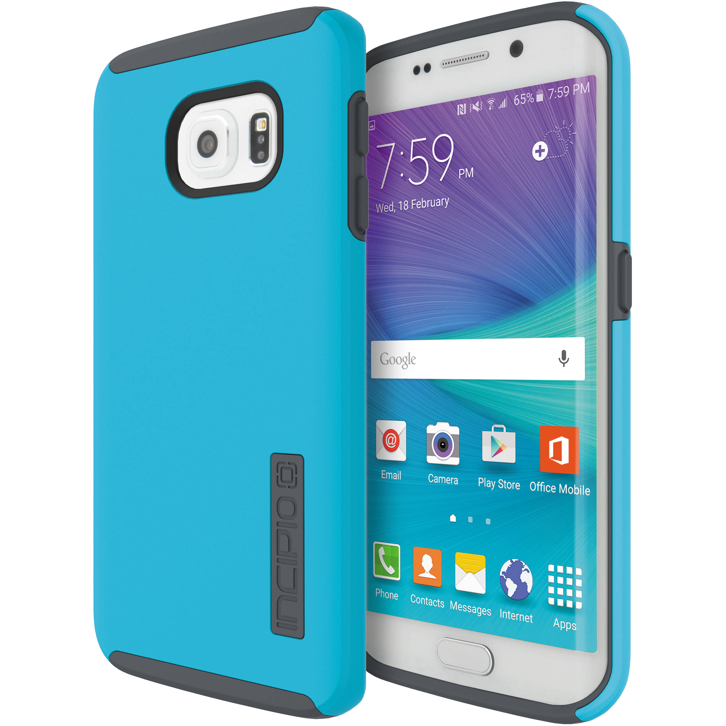 online store 3c849 99732 Incipio DualPro Case for Galaxy S6 (Neon Blue/Charcoal)