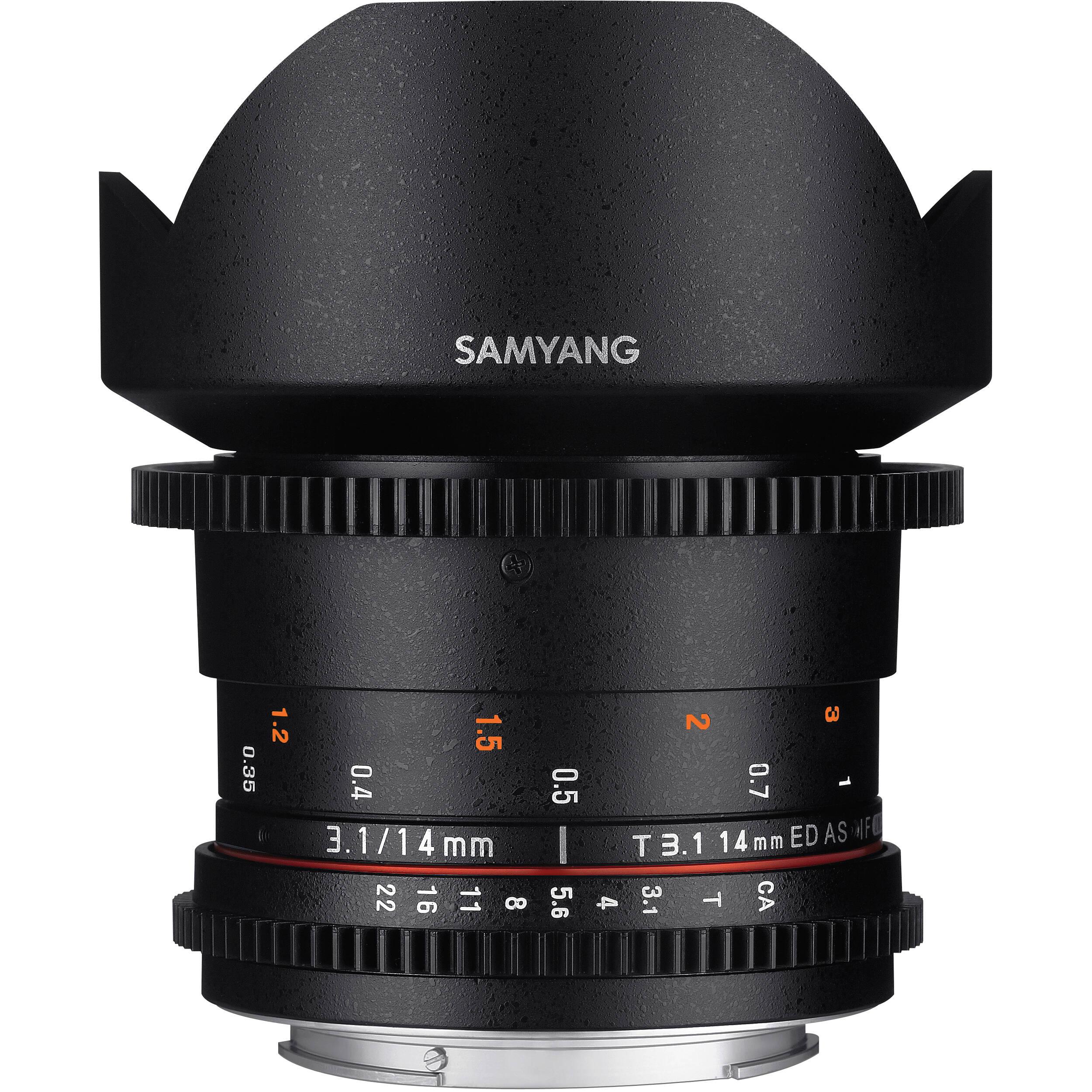 Samyang 14mm T3 1 VDSLRII Cine Lens for Canon EF Mount