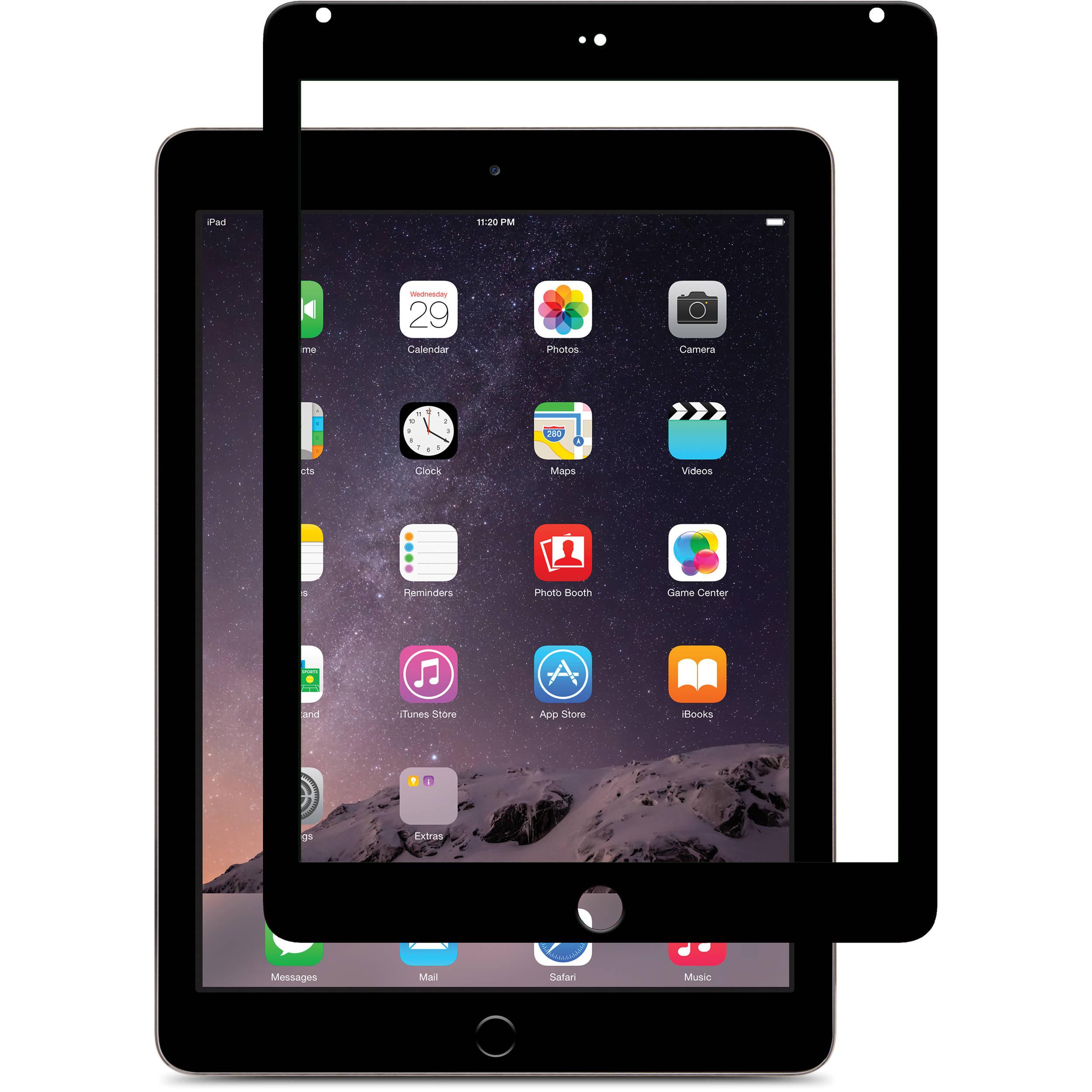 Moshi iVisor Glass Screen Protector for iPad Air/iPad Air 2 (Black)