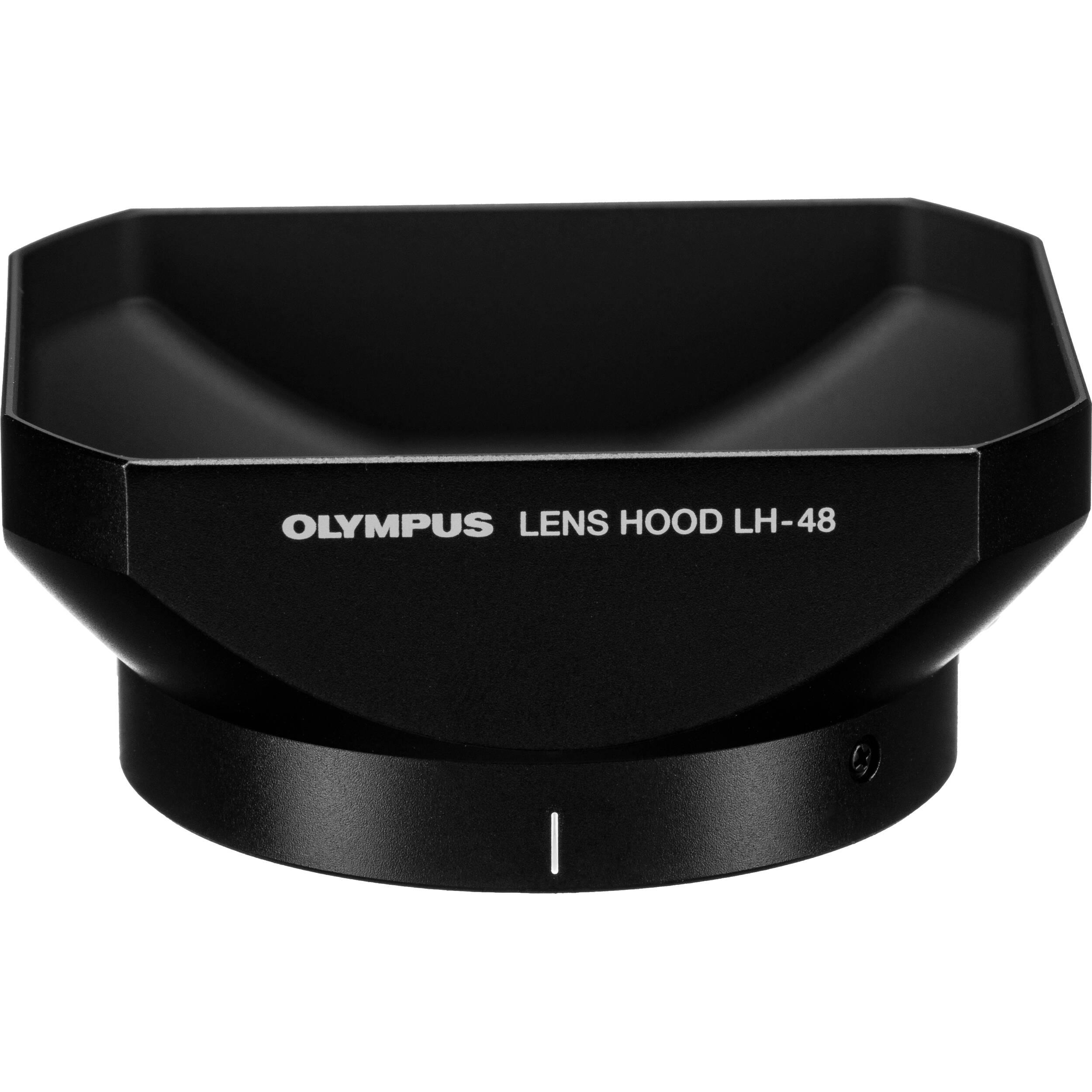 Black Olympus LH-48 Lens Hood for 12 mm f2.0 Lens