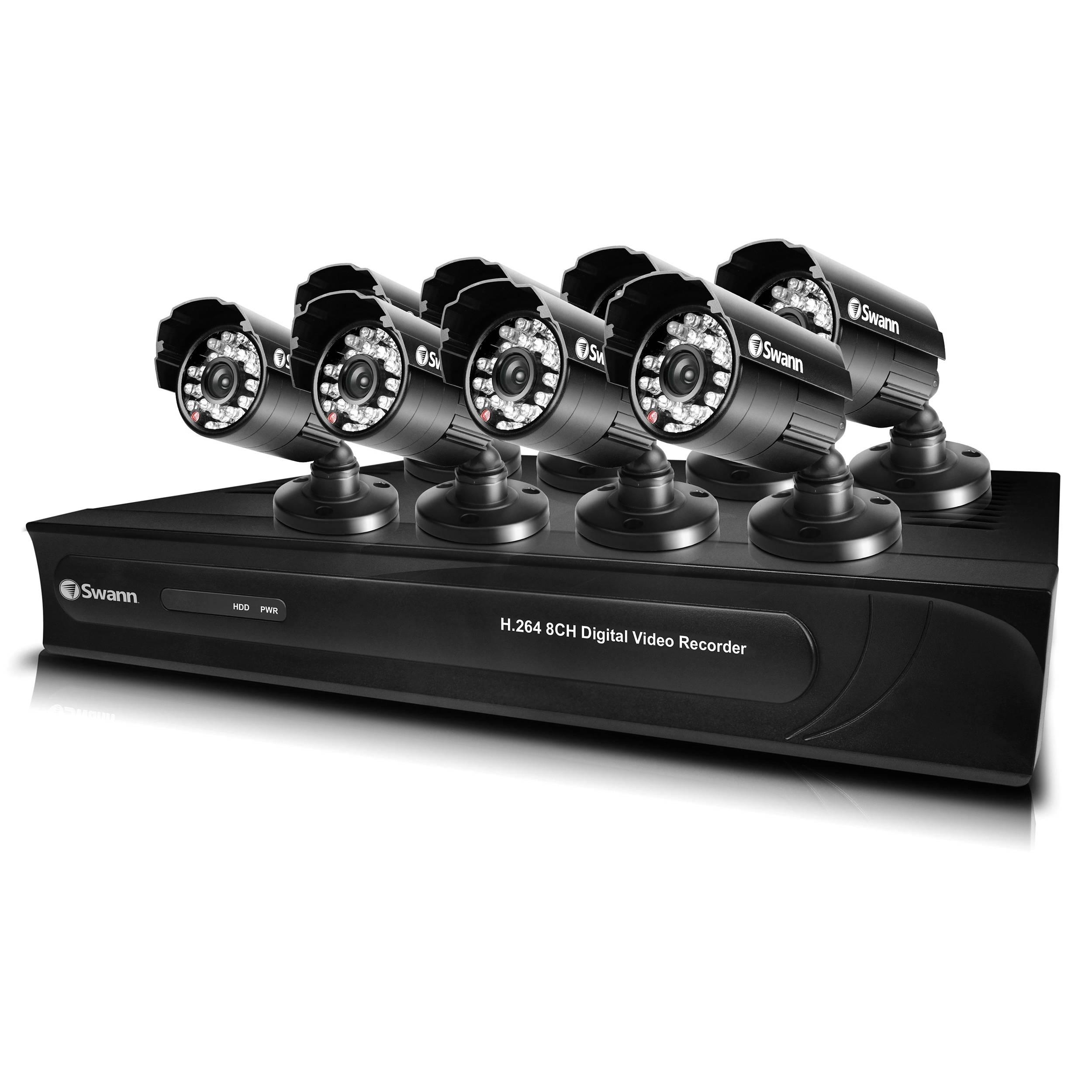 Swann DVR8-3250 8-Ch DVR with 8 PRO-615 Cameras 650 TVL Bundle (500 GB HDD)