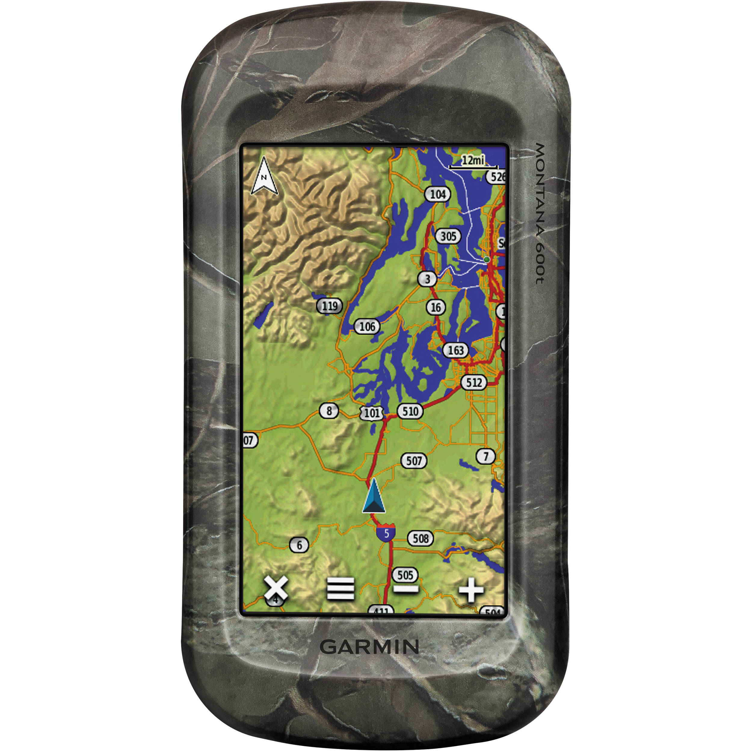 Garmin Montana 600t Outdoor GPS with TOPO U S  100K maps (Camo)